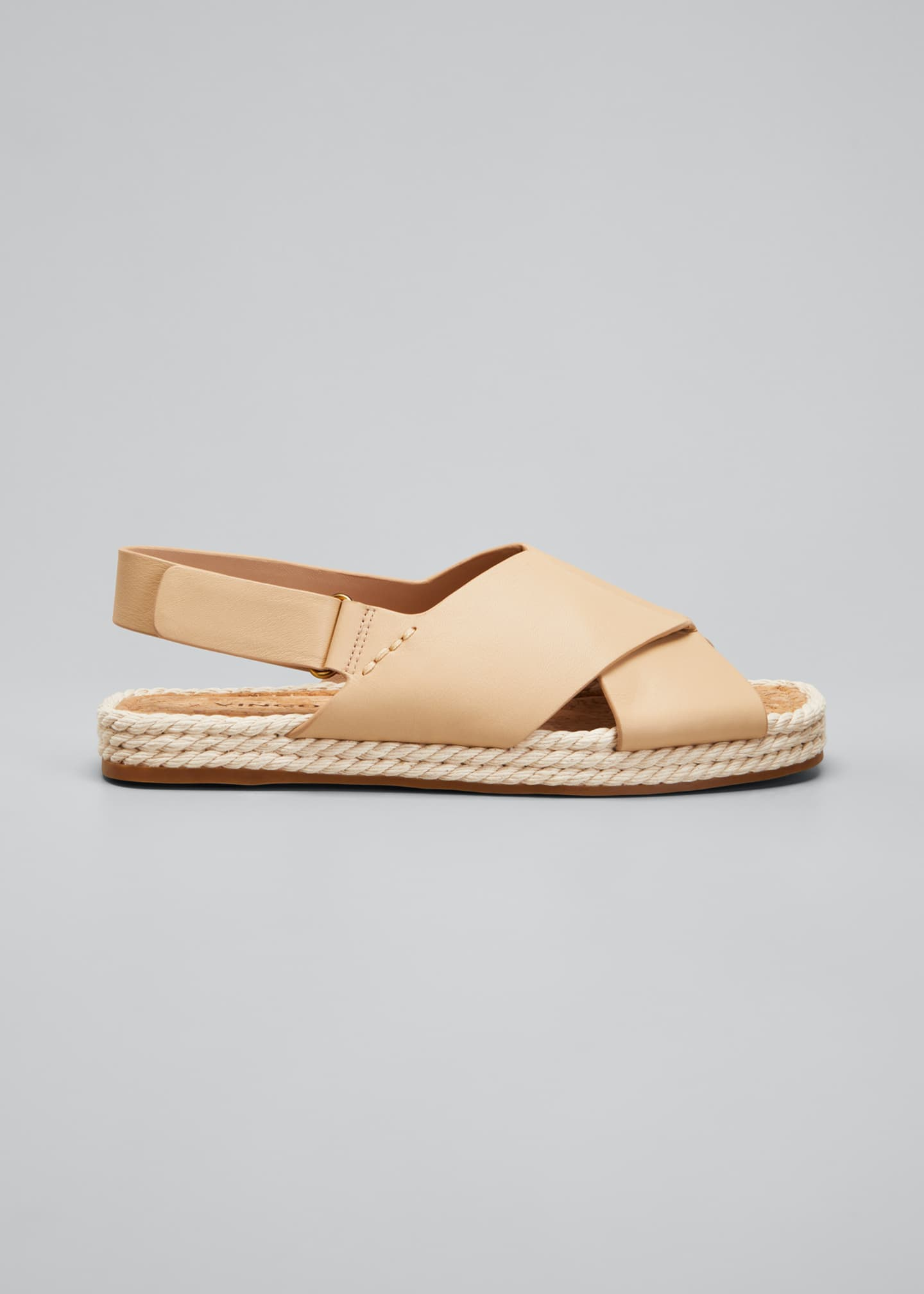 Image 1 of 3: Essen Crisscross Espadrille Flat Sandals