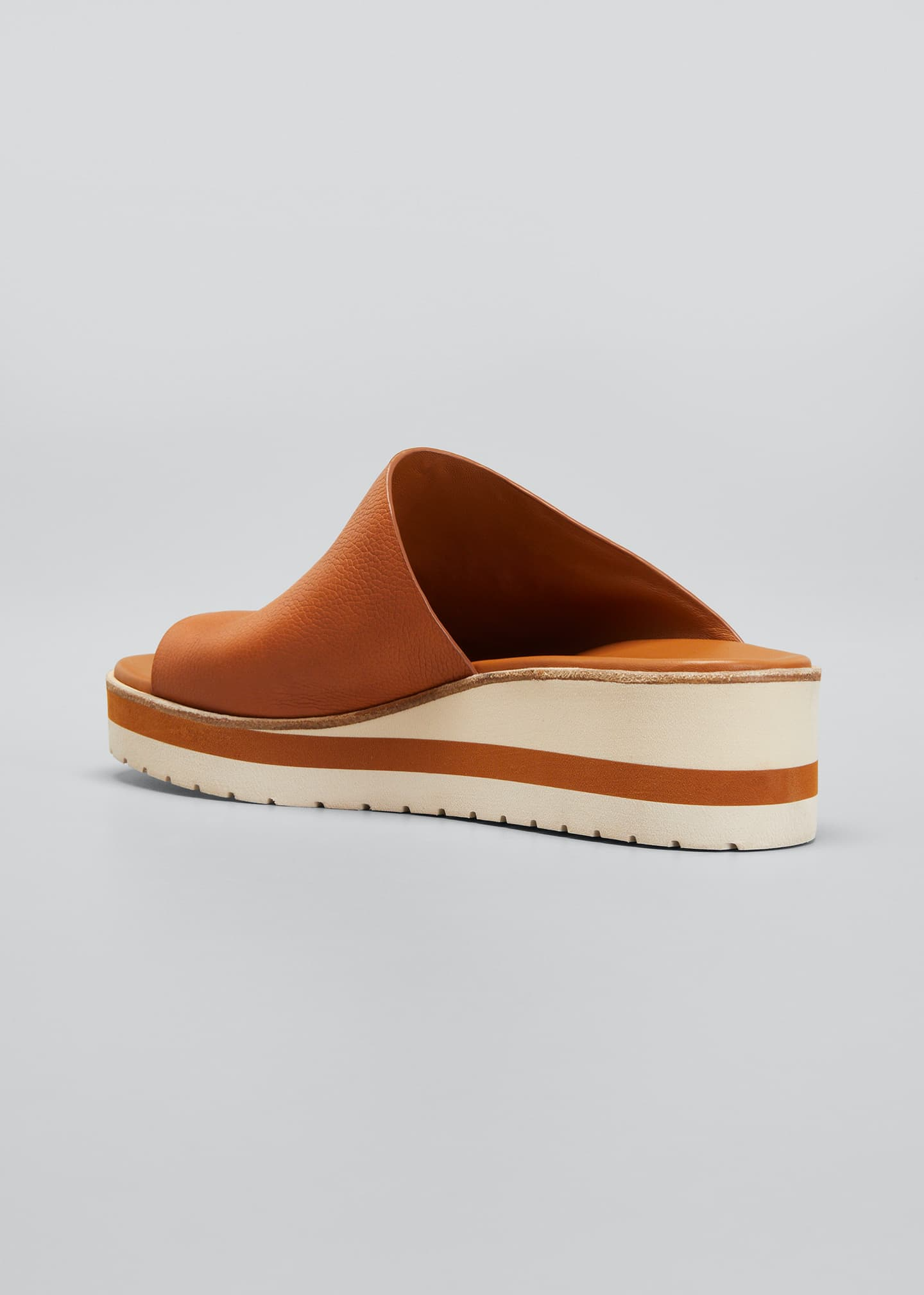 Image 2 of 3: Sarria Leather Wedge Slide Sandals