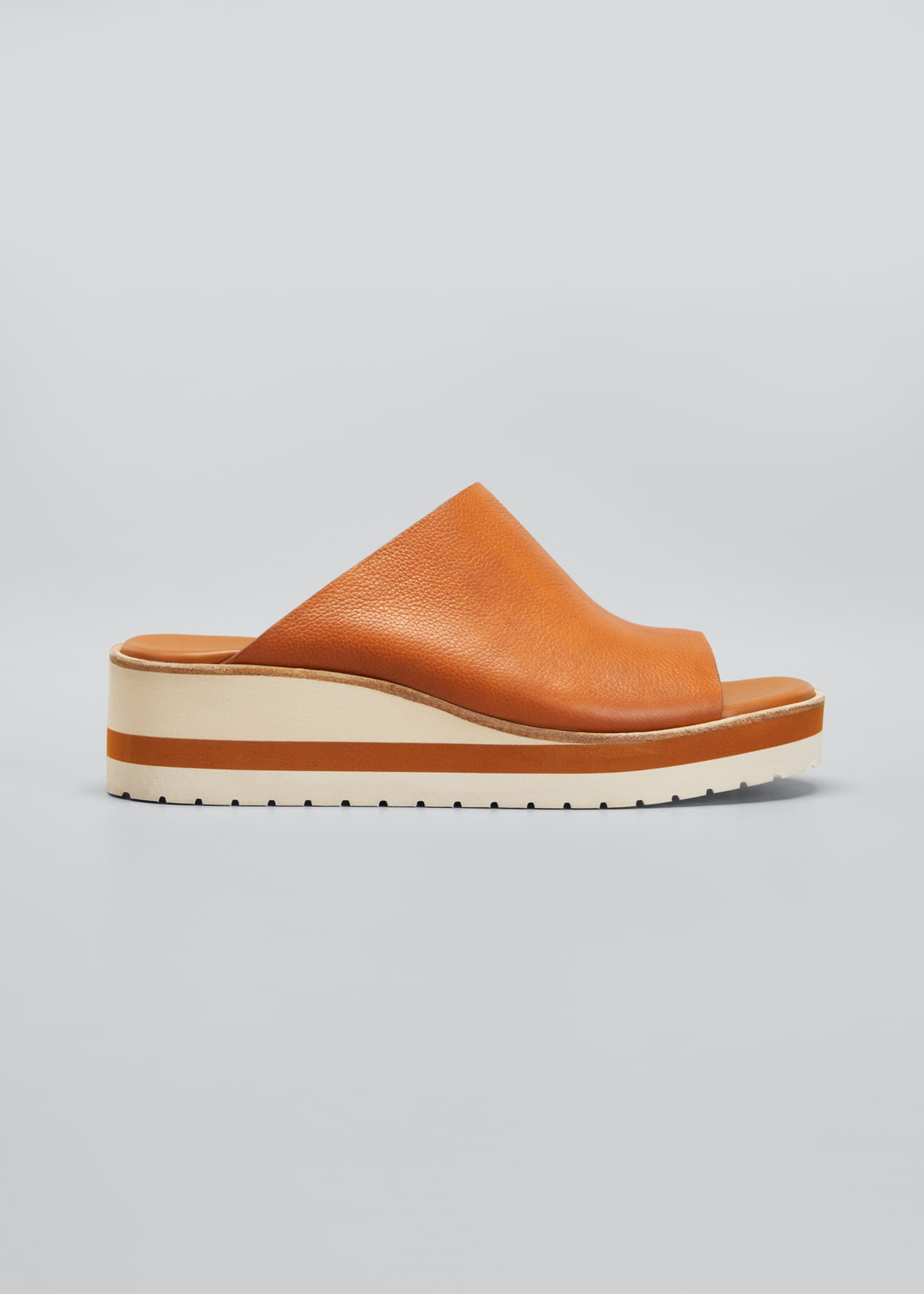 Image 1 of 3: Sarria Leather Wedge Slide Sandals