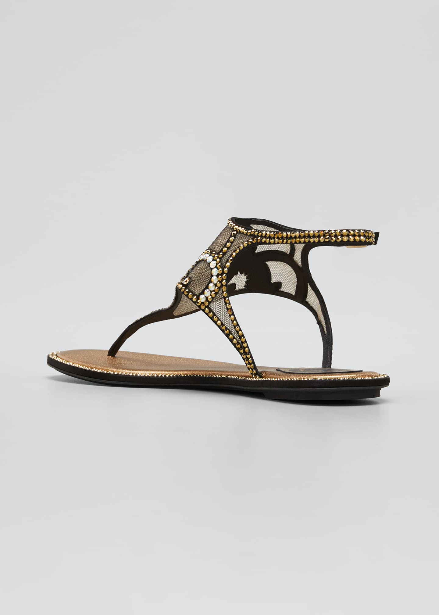 Image 2 of 3: Deco Embellished Thong Sandals