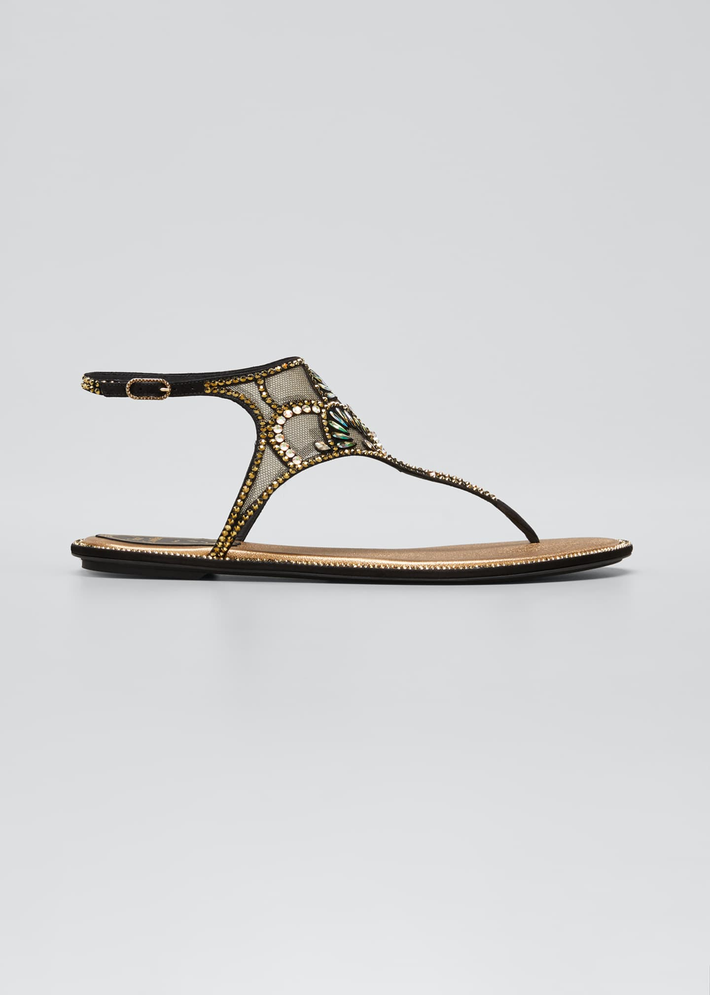 Image 1 of 3: Deco Embellished Thong Sandals