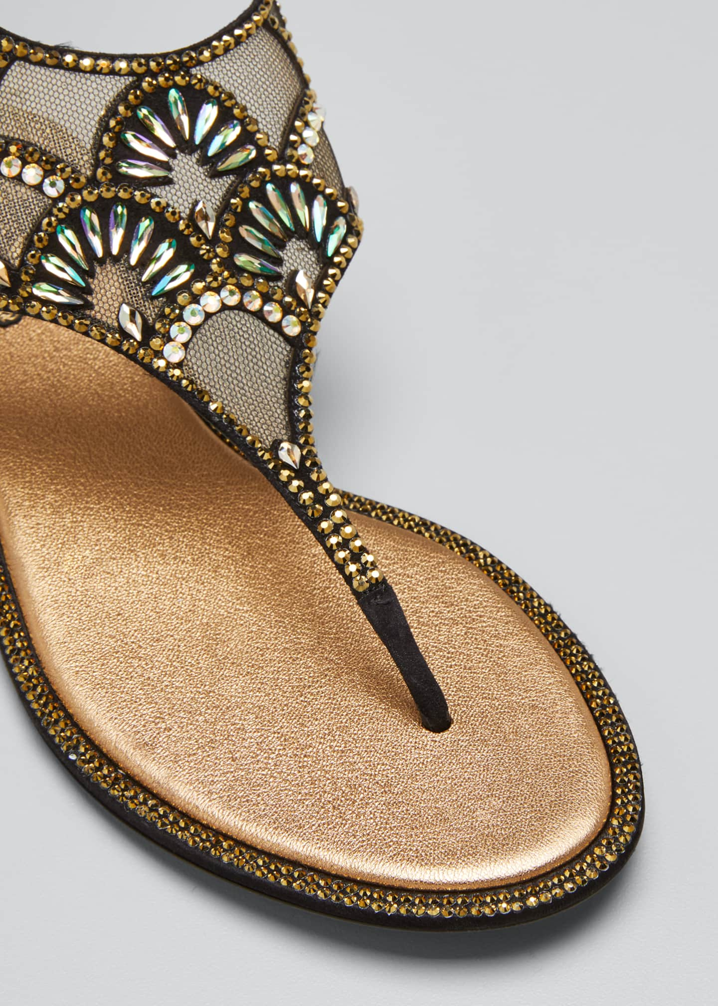Image 3 of 3: Deco Embellished Thong Sandals
