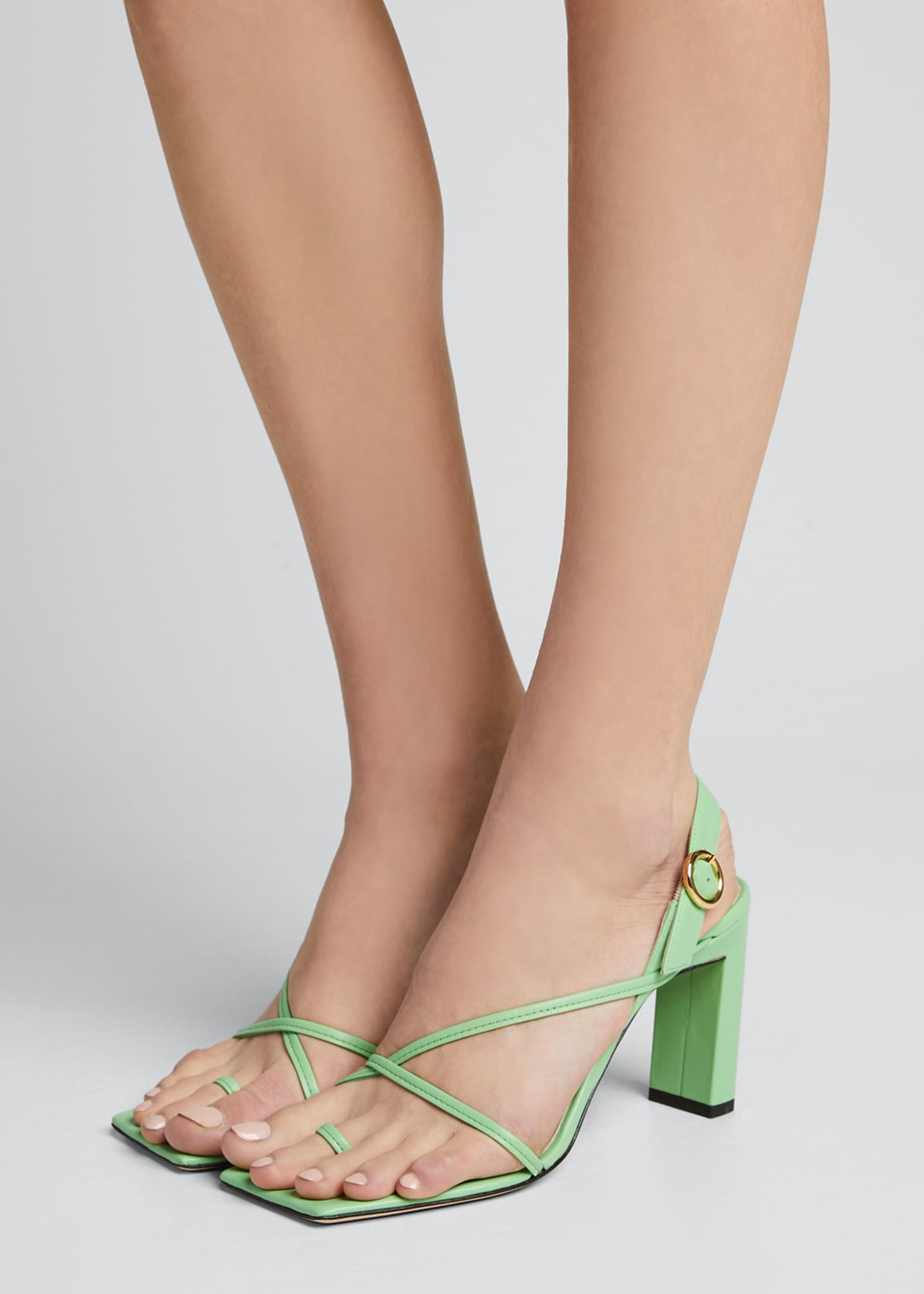 Image 2 of 5: Eliza Colorblock Square-Toe Sandals