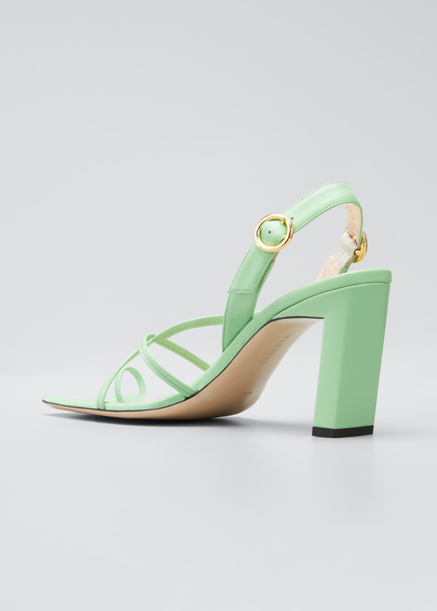 Image 4 of 5: Eliza Colorblock Square-Toe Sandals