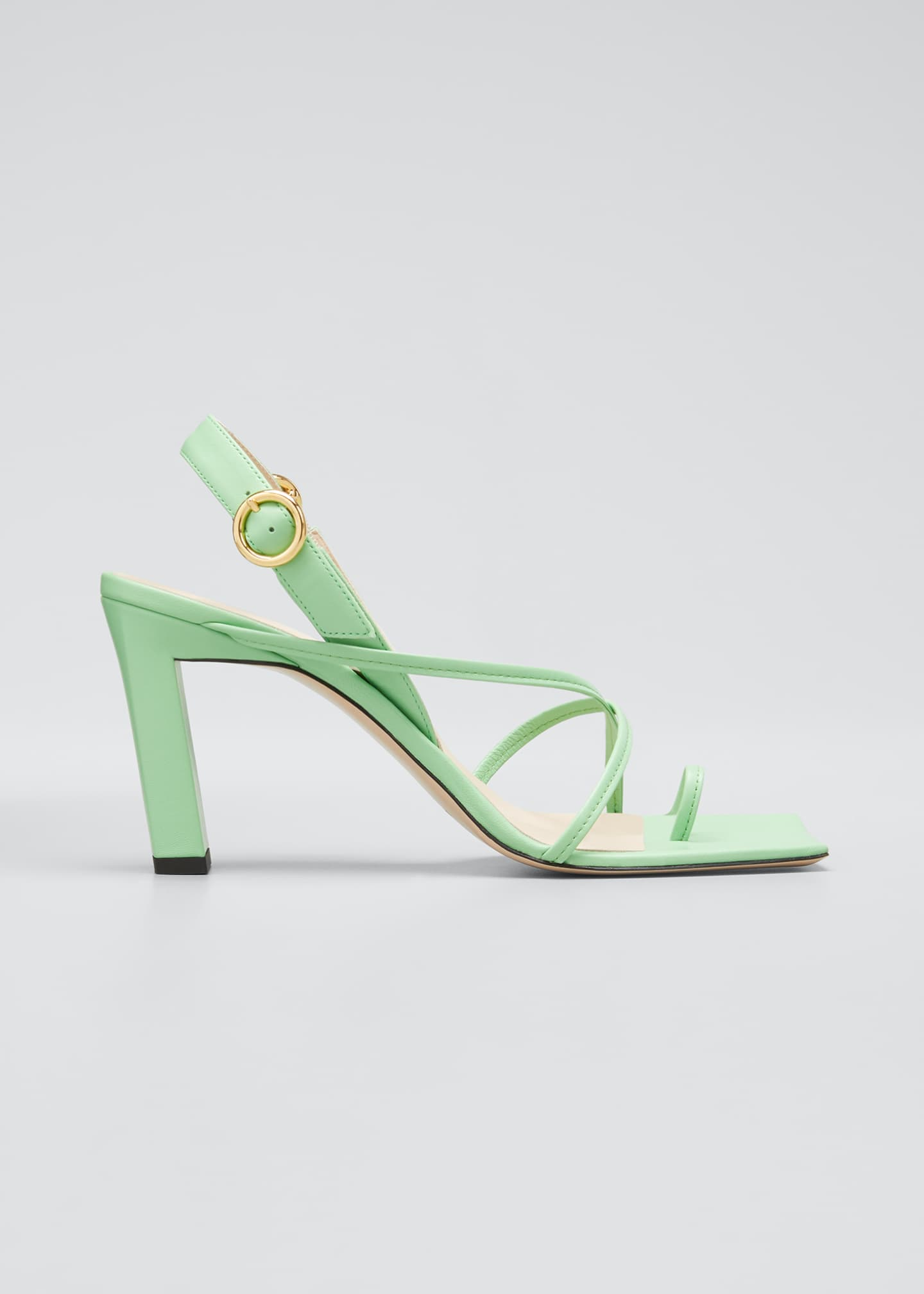 Image 1 of 5: Eliza Colorblock Square-Toe Sandals