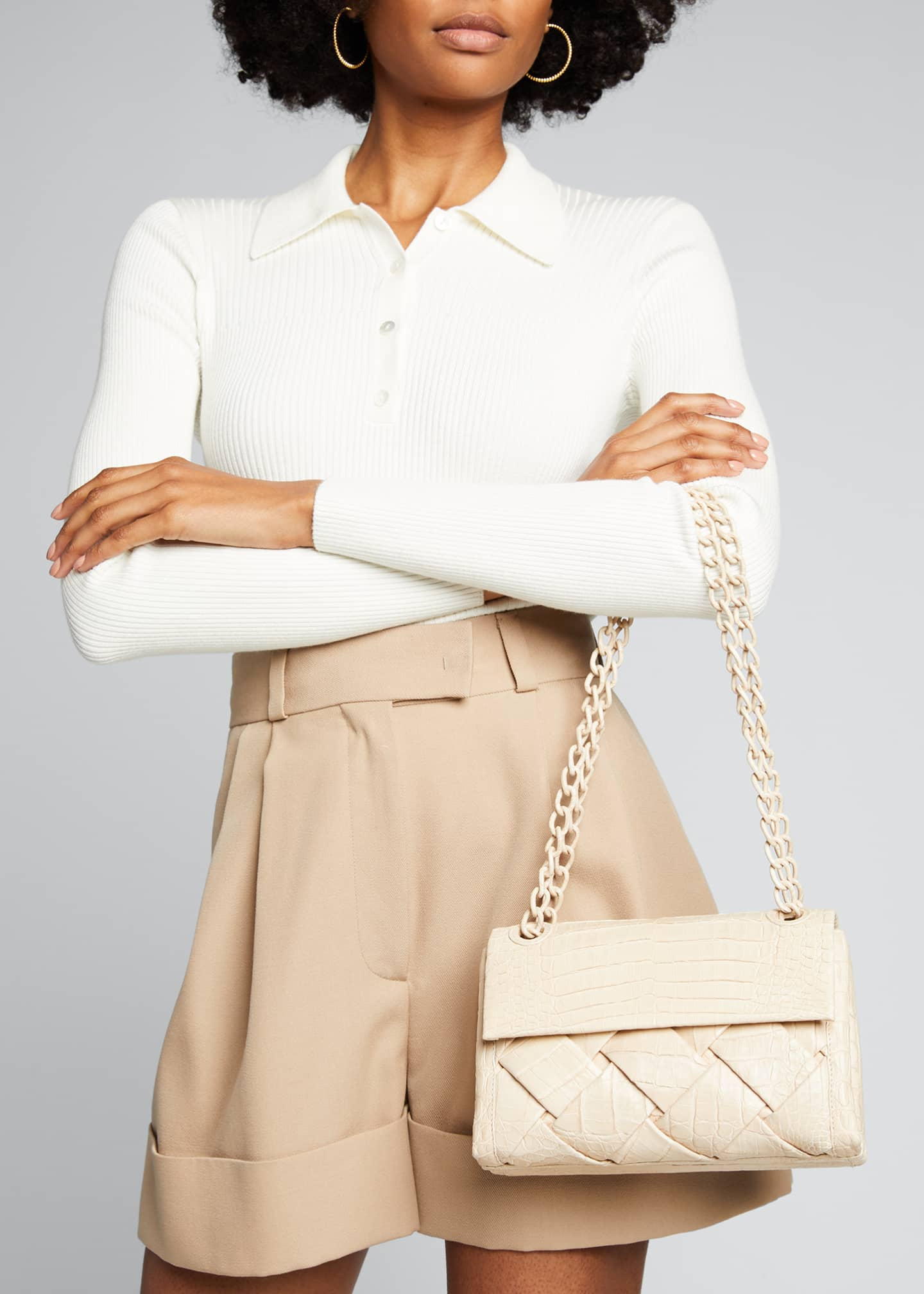 Image 2 of 5: Madison Small Woven Shoulder Bag