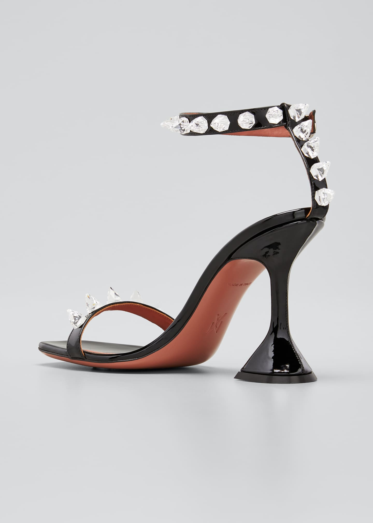Image 2 of 3: Julia 95mm Patent Spike Sandals
