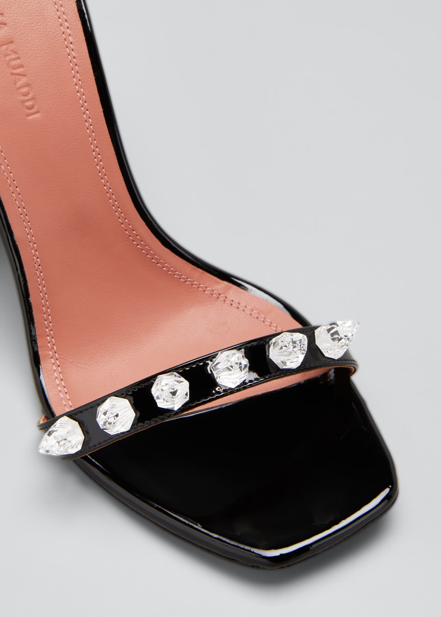 Image 3 of 3: Julia 95mm Patent Spike Sandals