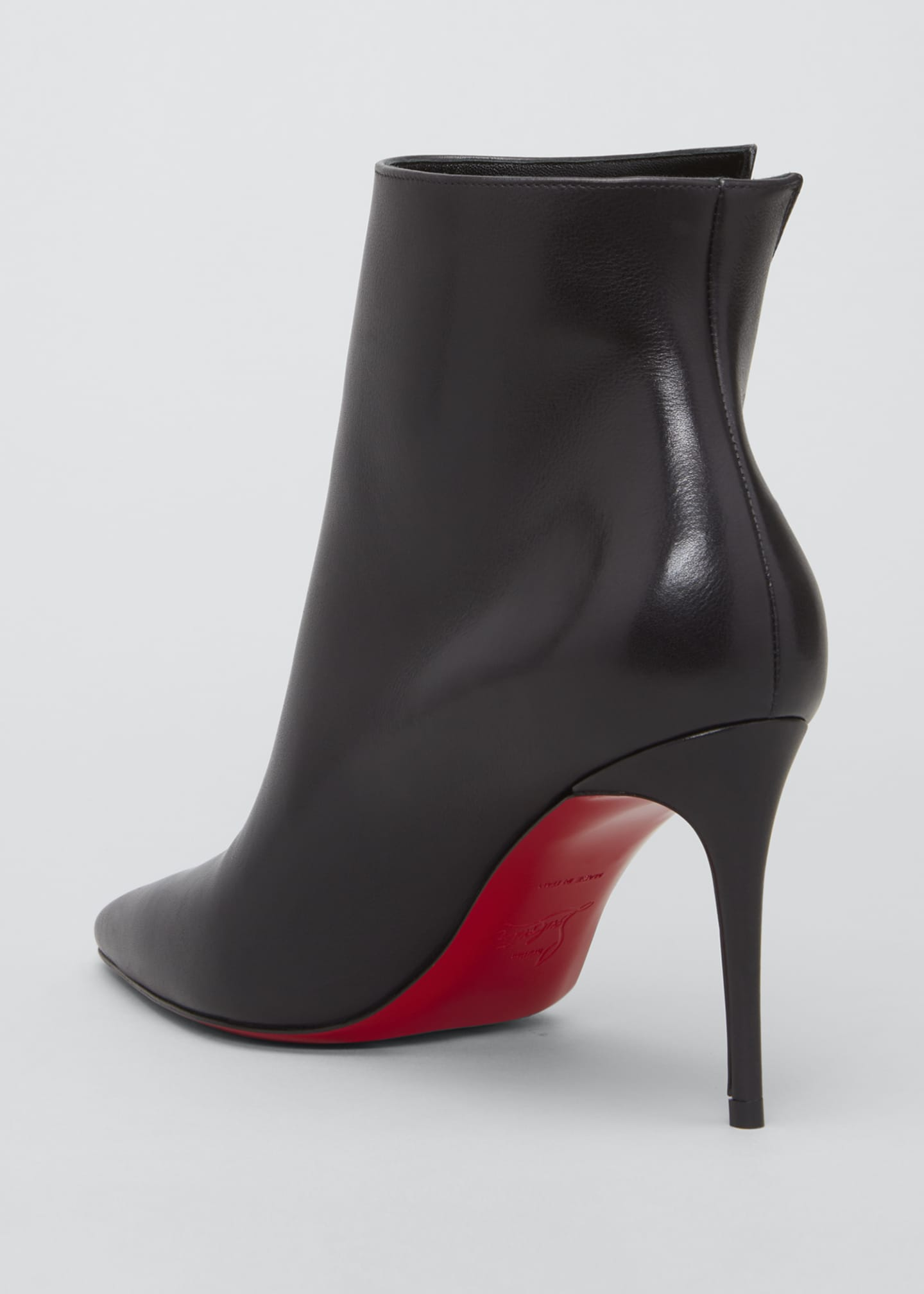 Image 2 of 3: Birigkate Sleek Zip Red Sole Booties