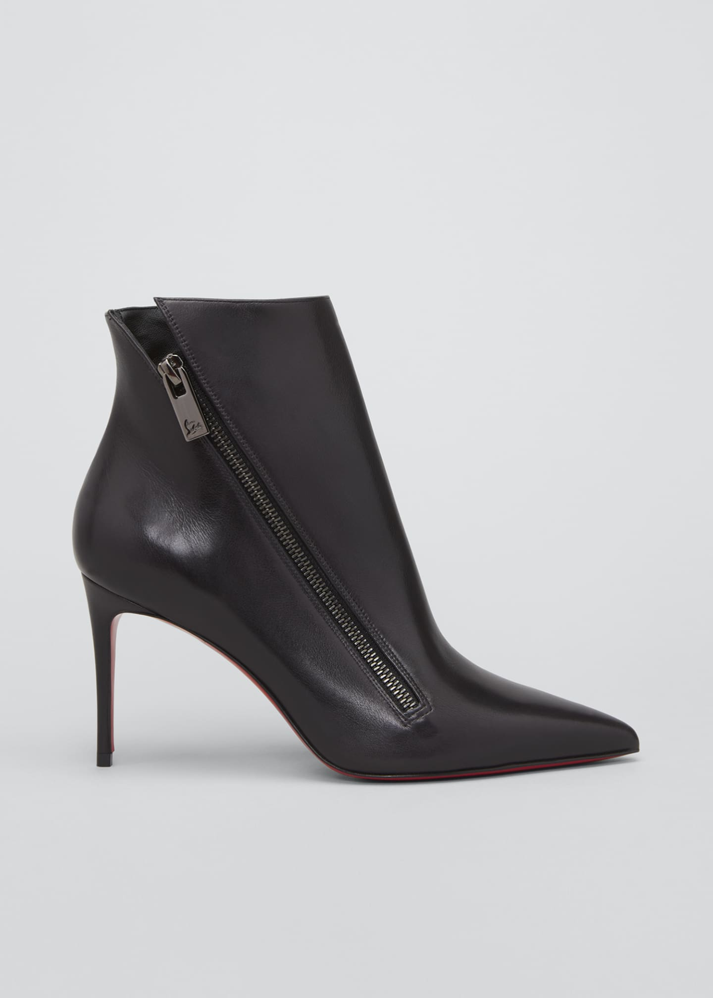 Image 1 of 3: Birigkate Sleek Zip Red Sole Booties