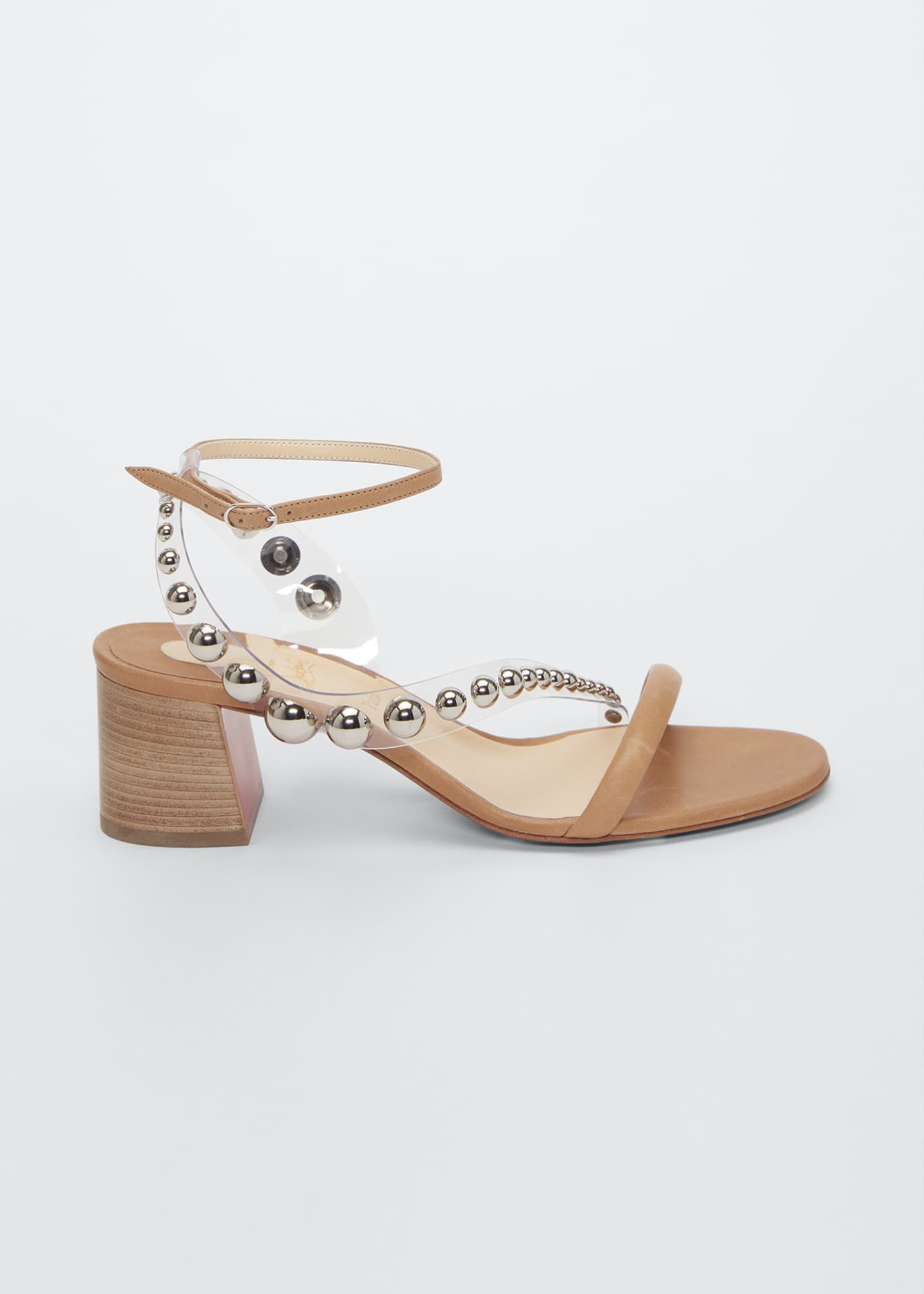 Image 1 of 2: Corinne Studded Vinyl Red Sole Sandals