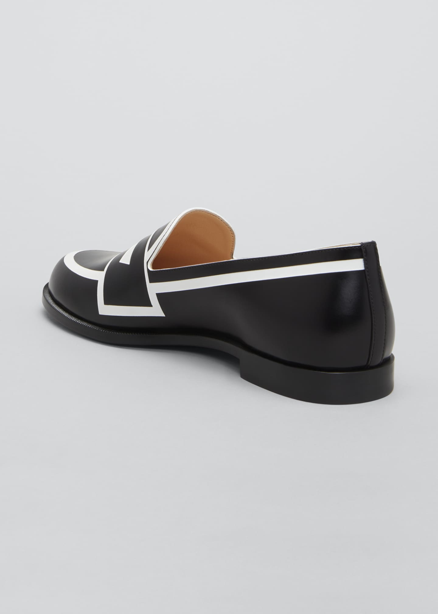 Image 2 of 3: Tromoca Flat Printed Contrast Loafers