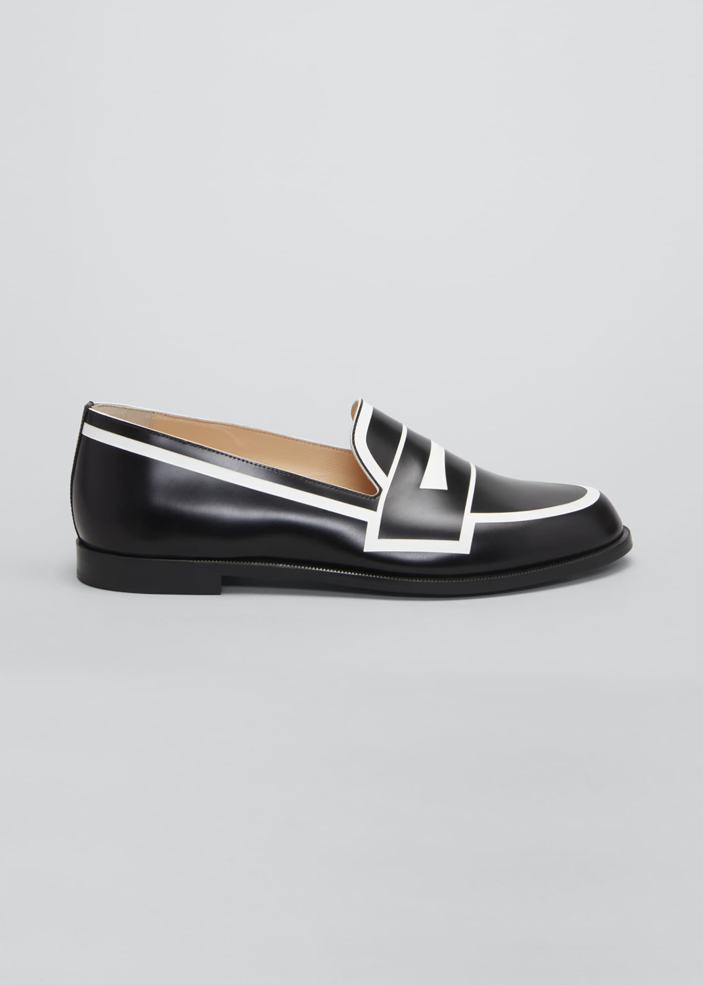 Image 1 of 3: Tromoca Flat Printed Contrast Loafers