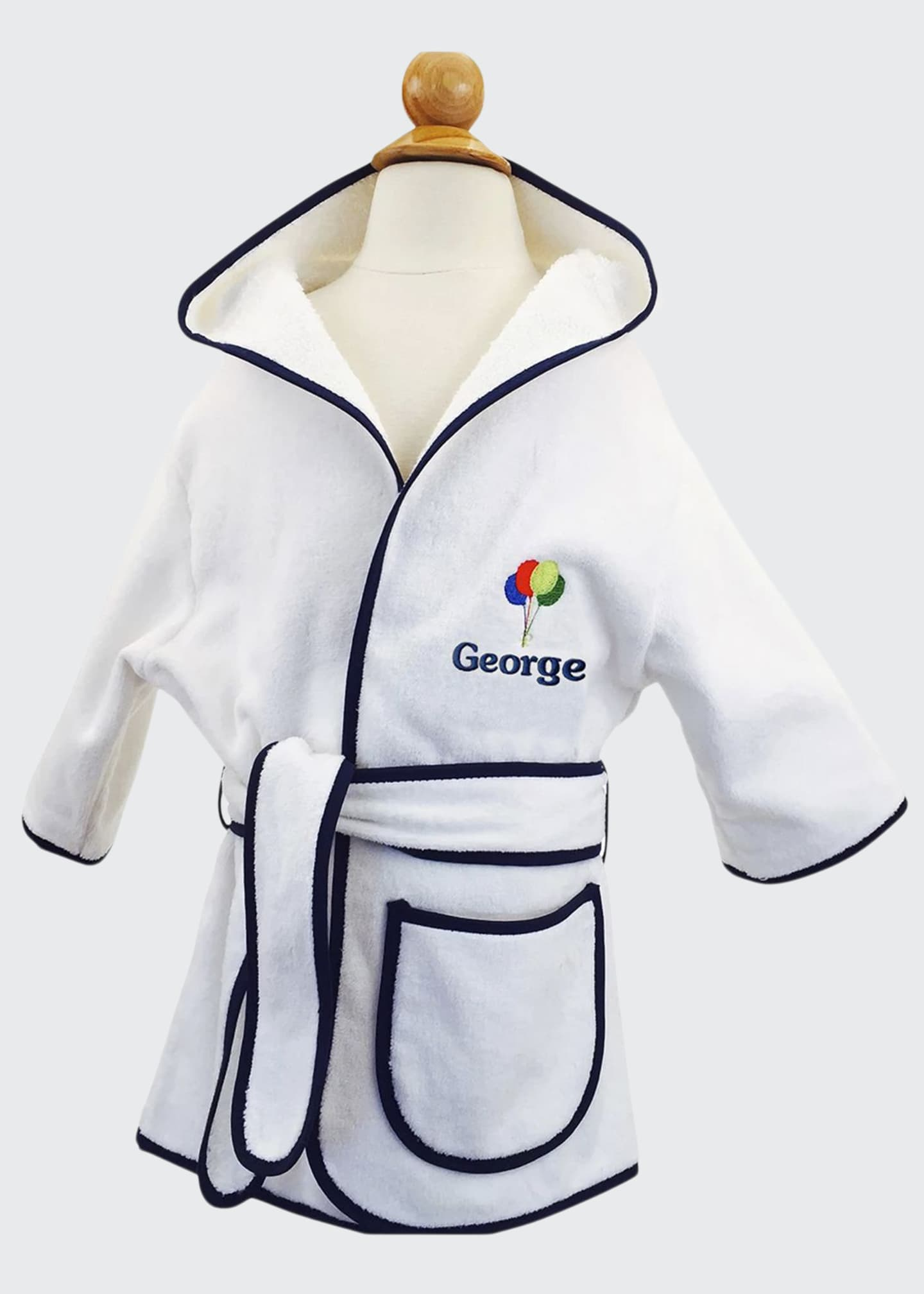 Image 1 of 1: Kid's Terry Balloon Hooded Cover-Up Robe, Personalized