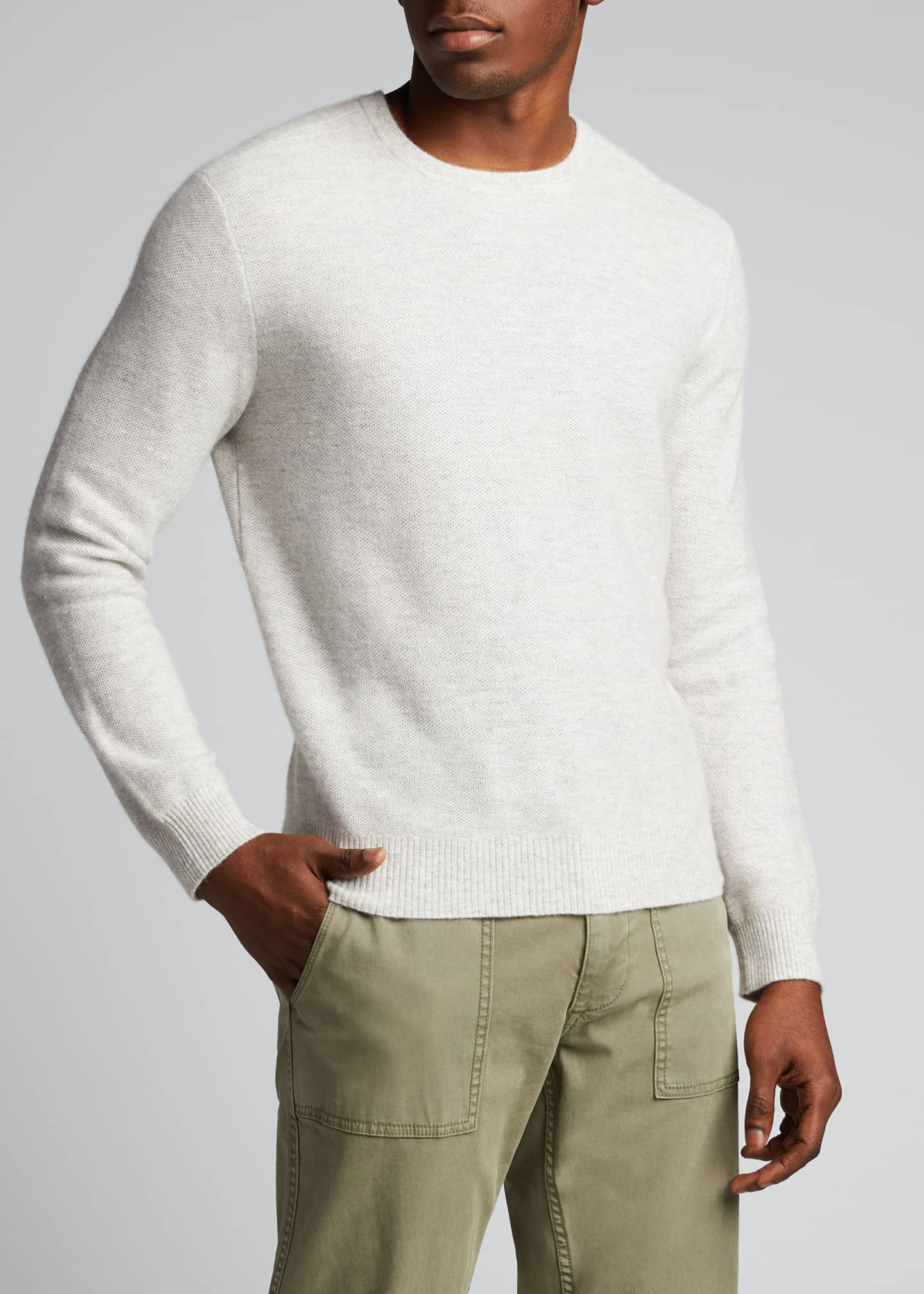 Image 3 of 5: Men's Tuck-Stitch Sweater