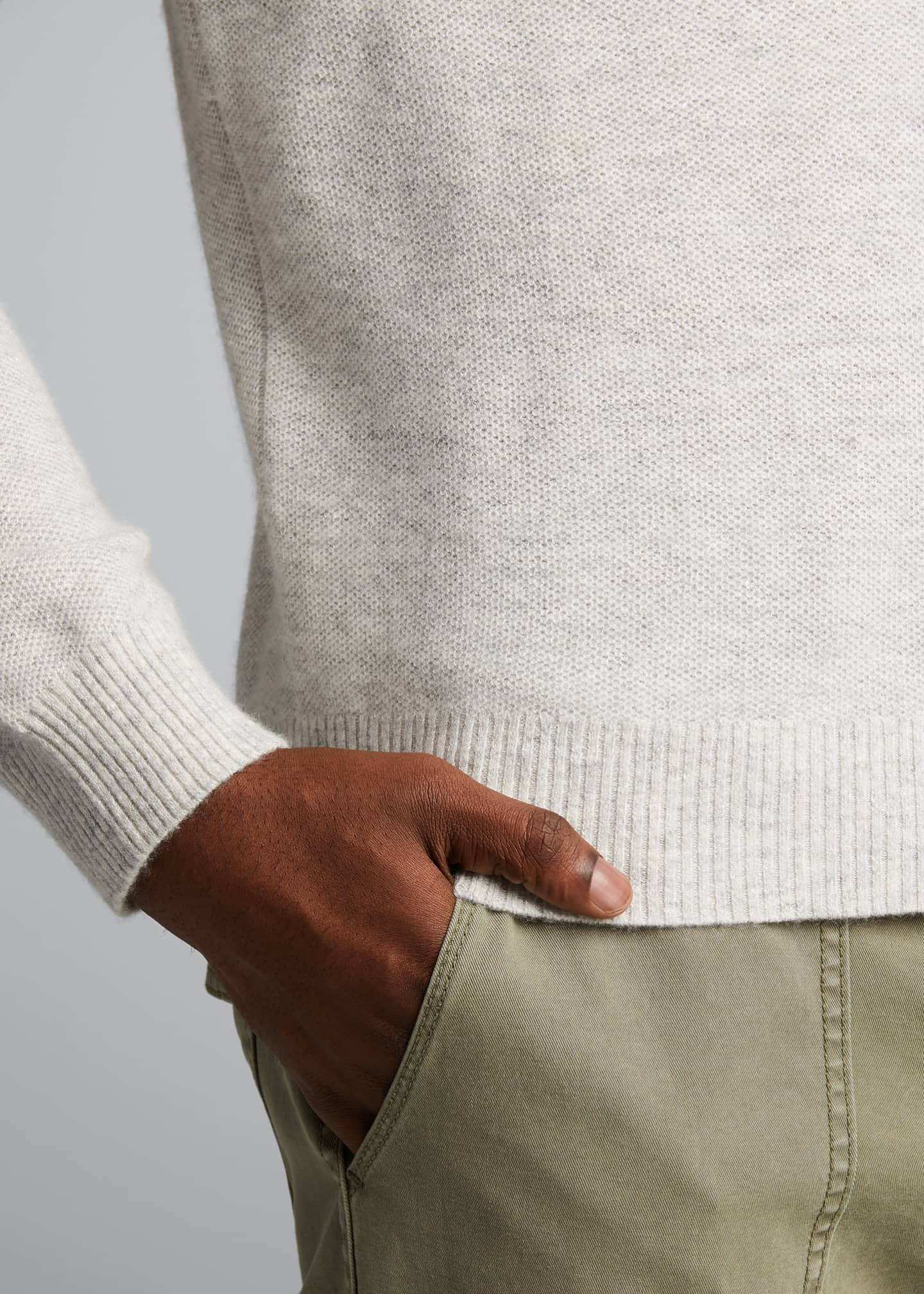 Image 4 of 5: Men's Tuck-Stitch Sweater