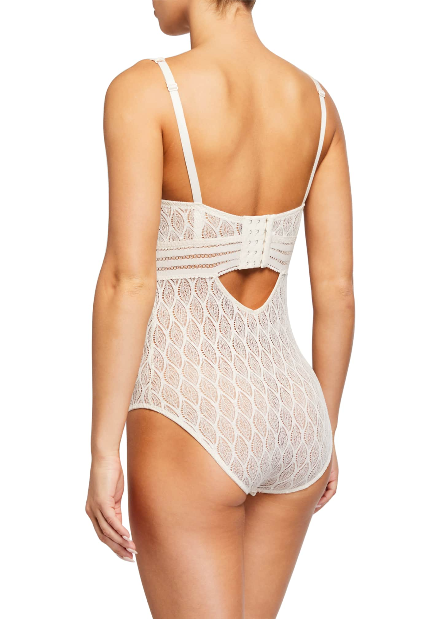 Image 2 of 2: Belize Underwire Lace Bodysuit