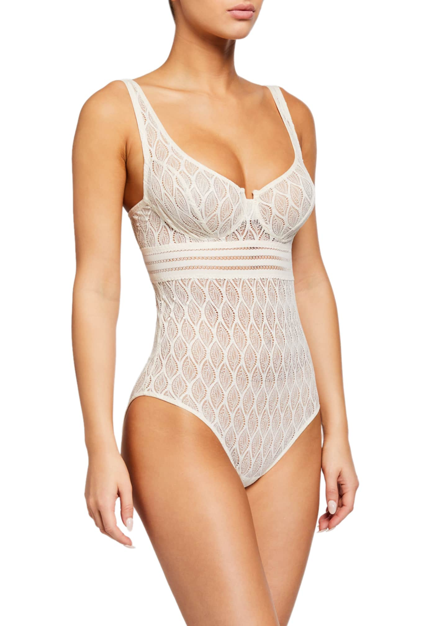 Image 1 of 2: Belize Underwire Lace Bodysuit