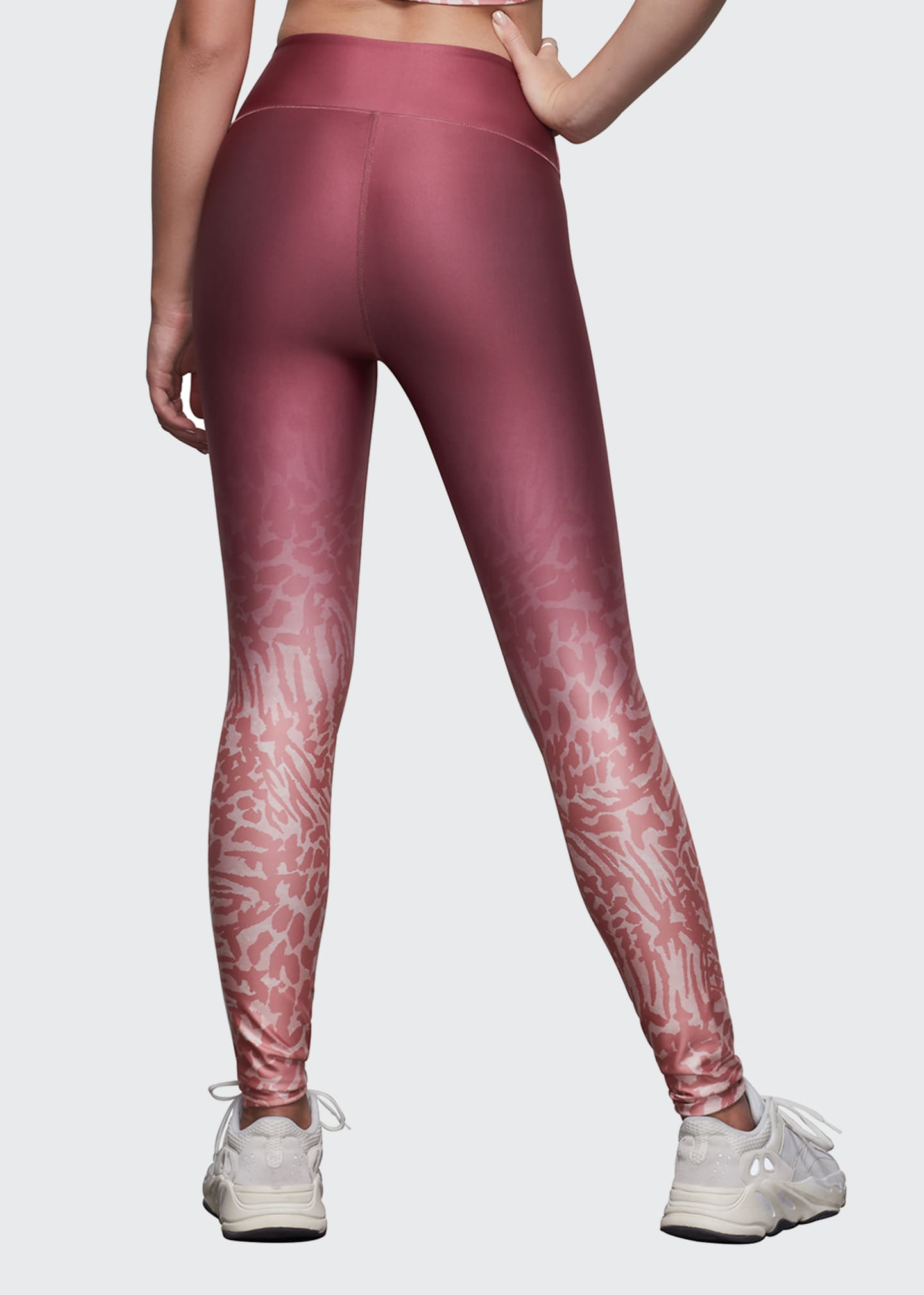 Image 3 of 3: Ombre Printed Leggings - Inclusive Sizing
