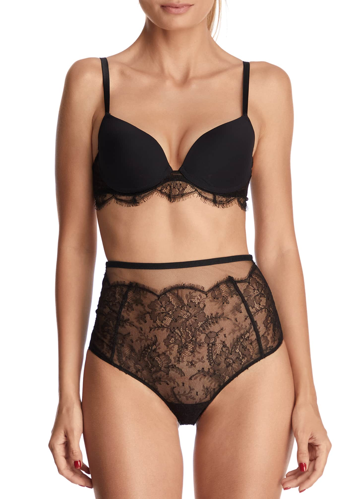 Far From Heaven Lace High-Waist Briefs