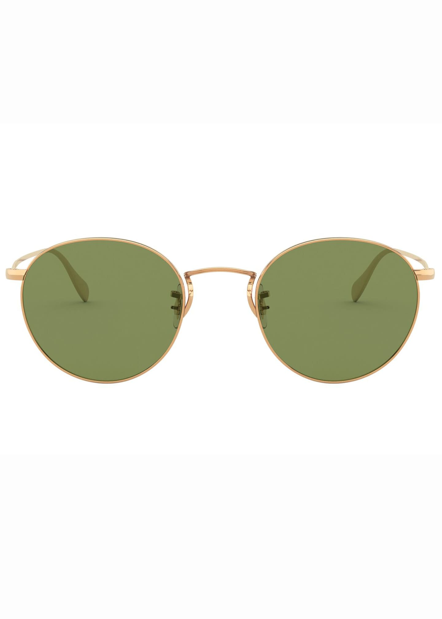 Image 2 of 2: Men's Coleridge Round Metal Aviator Sunglasses