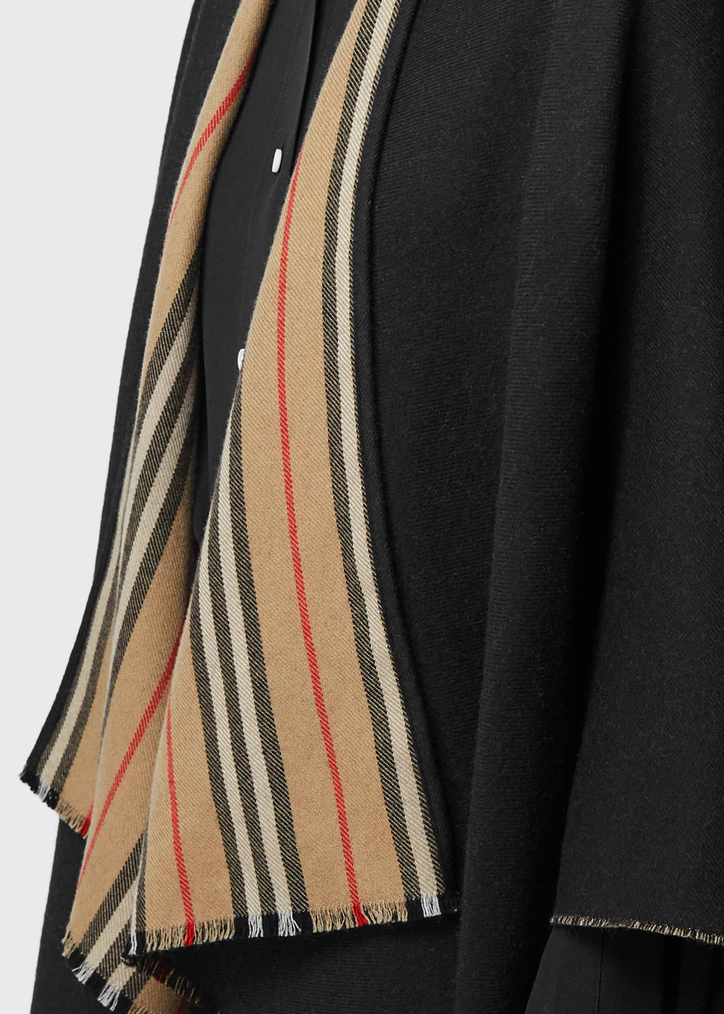 Image 4 of 4: Reversible Icon Striped to Solid Cape