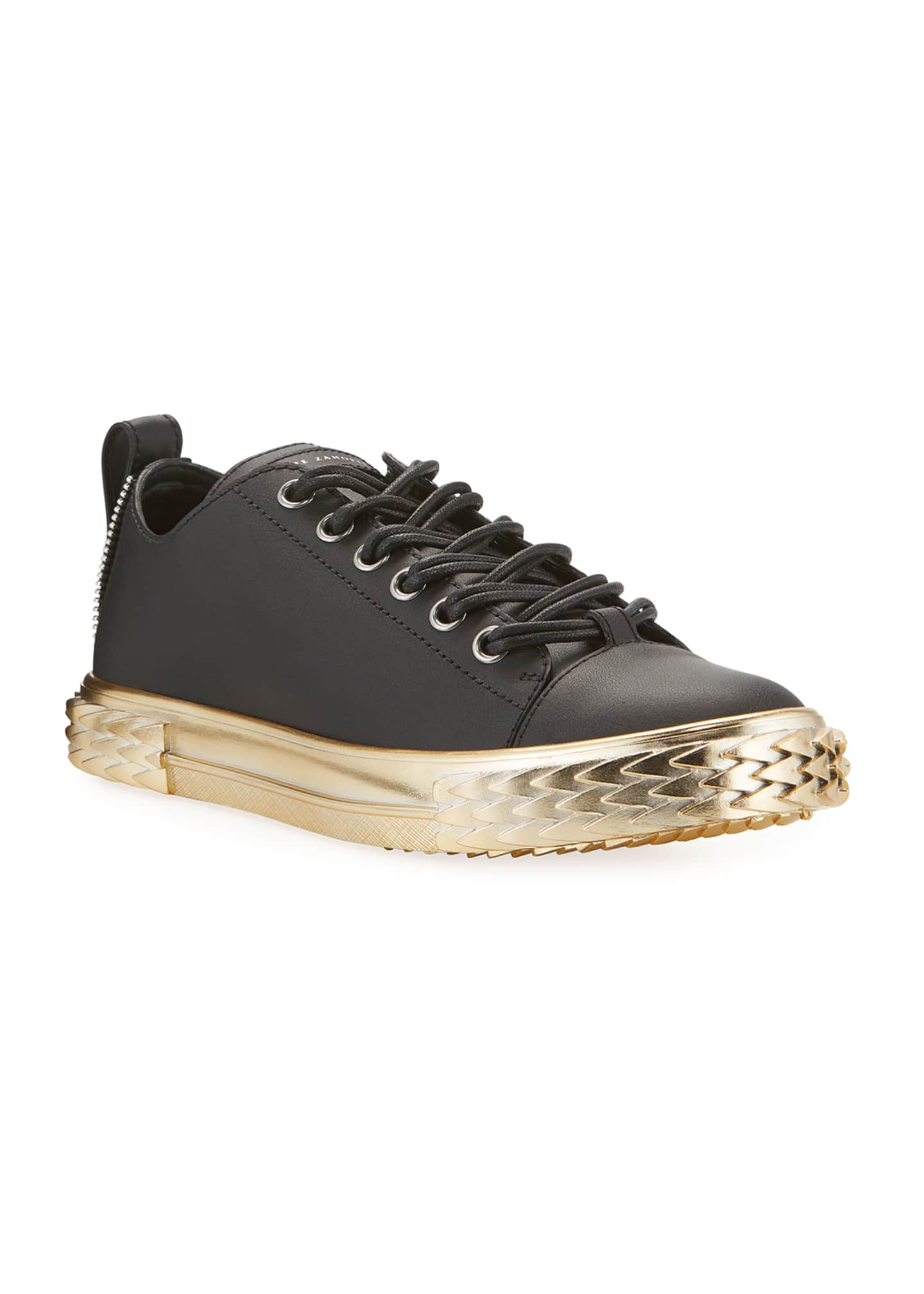 Image 2 of 4: Men's Blabber Leather Sneakers w/ Metallic Sole