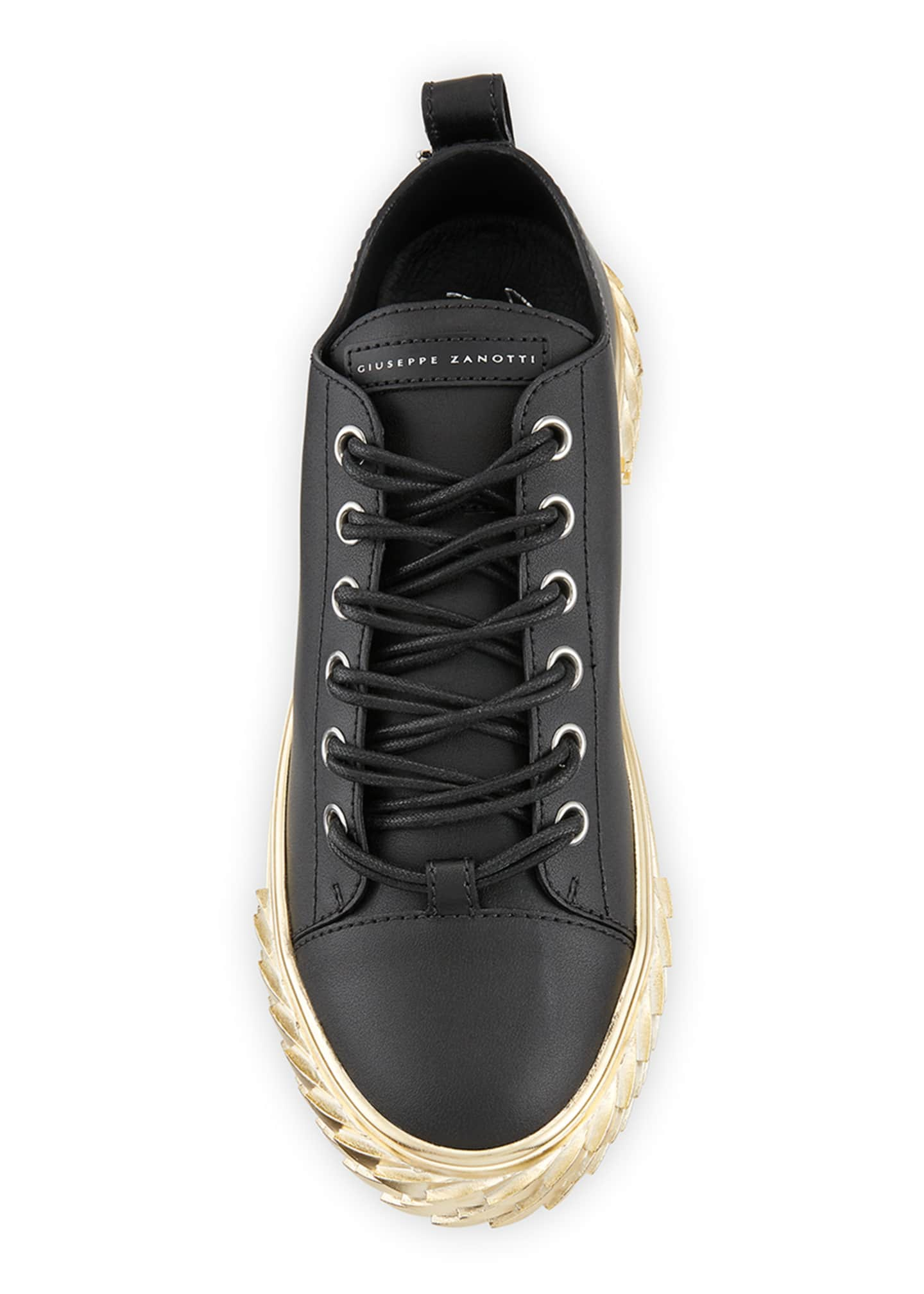 Image 3 of 4: Men's Blabber Leather Sneakers w/ Metallic Sole