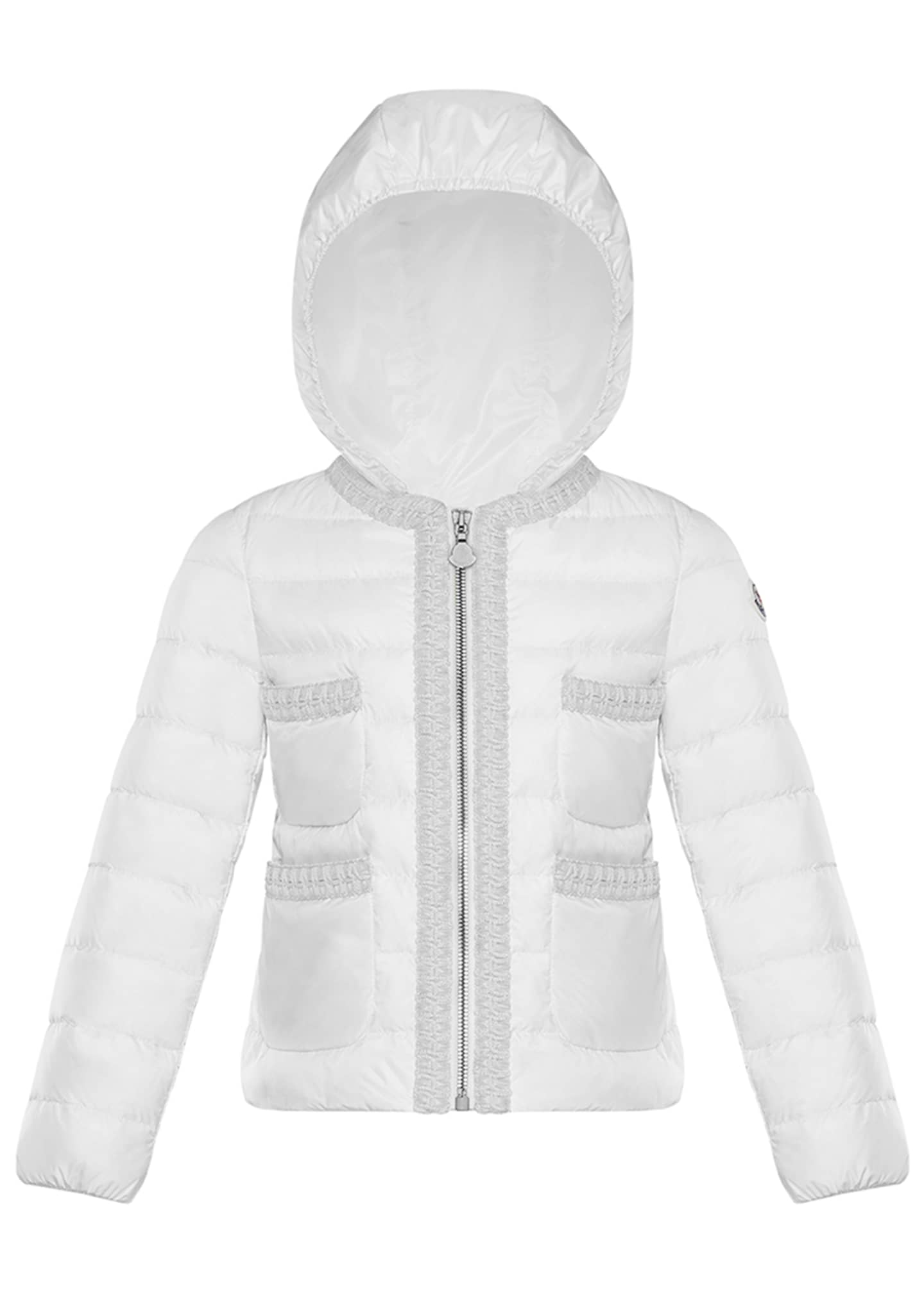 Image 1 of 2: Girl's Citron Quilted Contrast Trim Jacket, Size 8-14