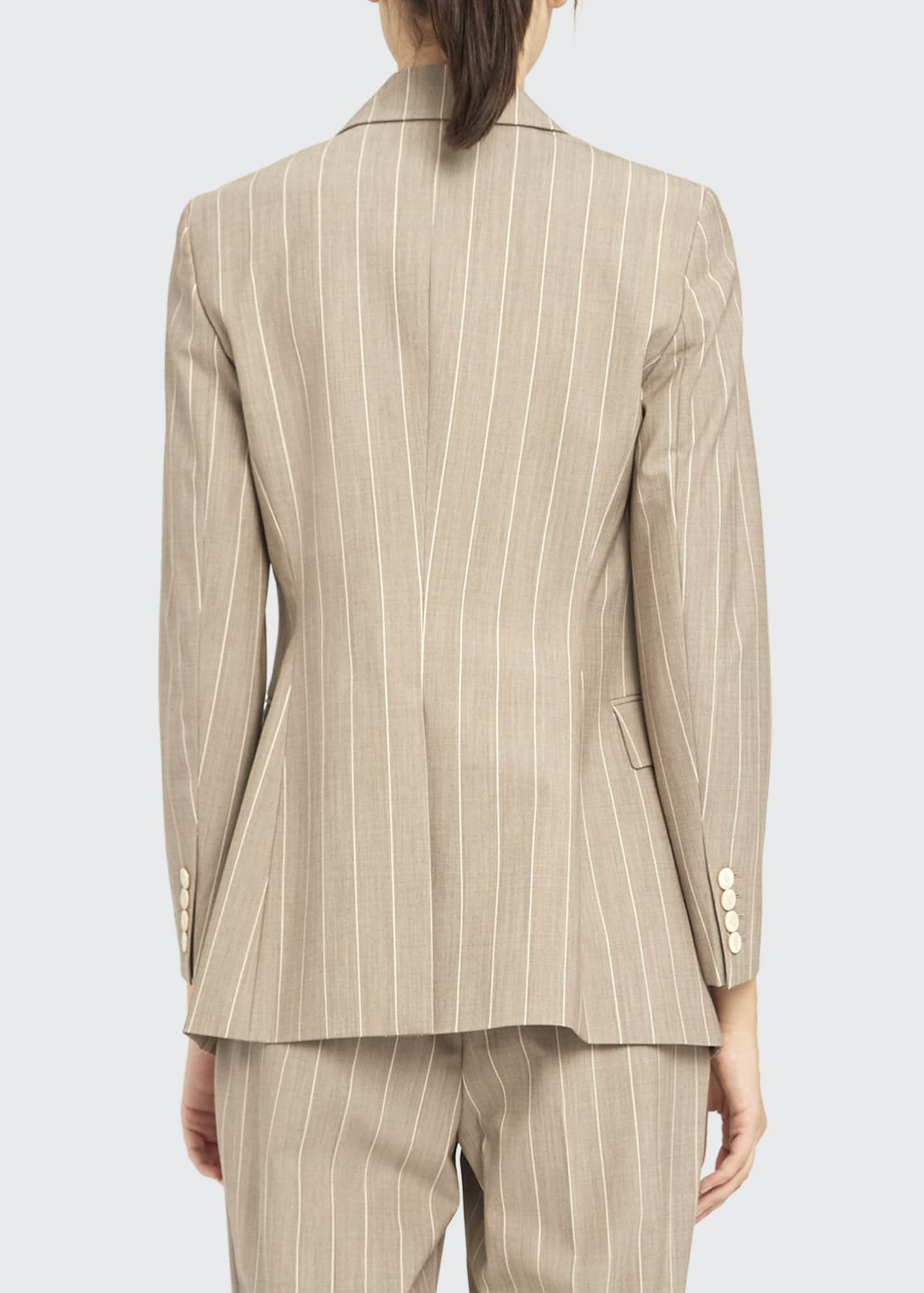 Image 2 of 4: Etiennette Traceable Wool Striped Blazer