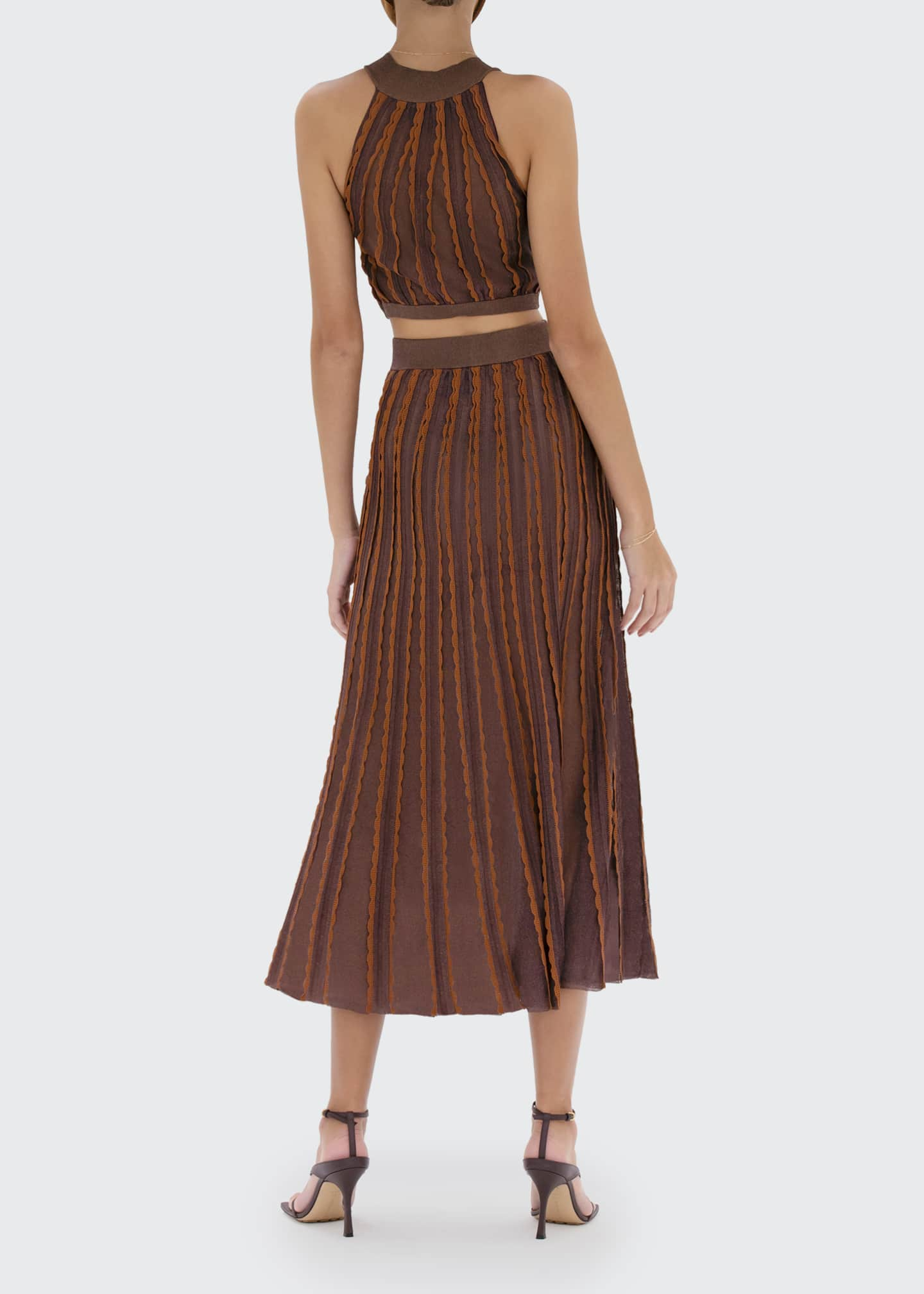 Image 2 of 2: Zea Scallop-Trim Midi Skirt