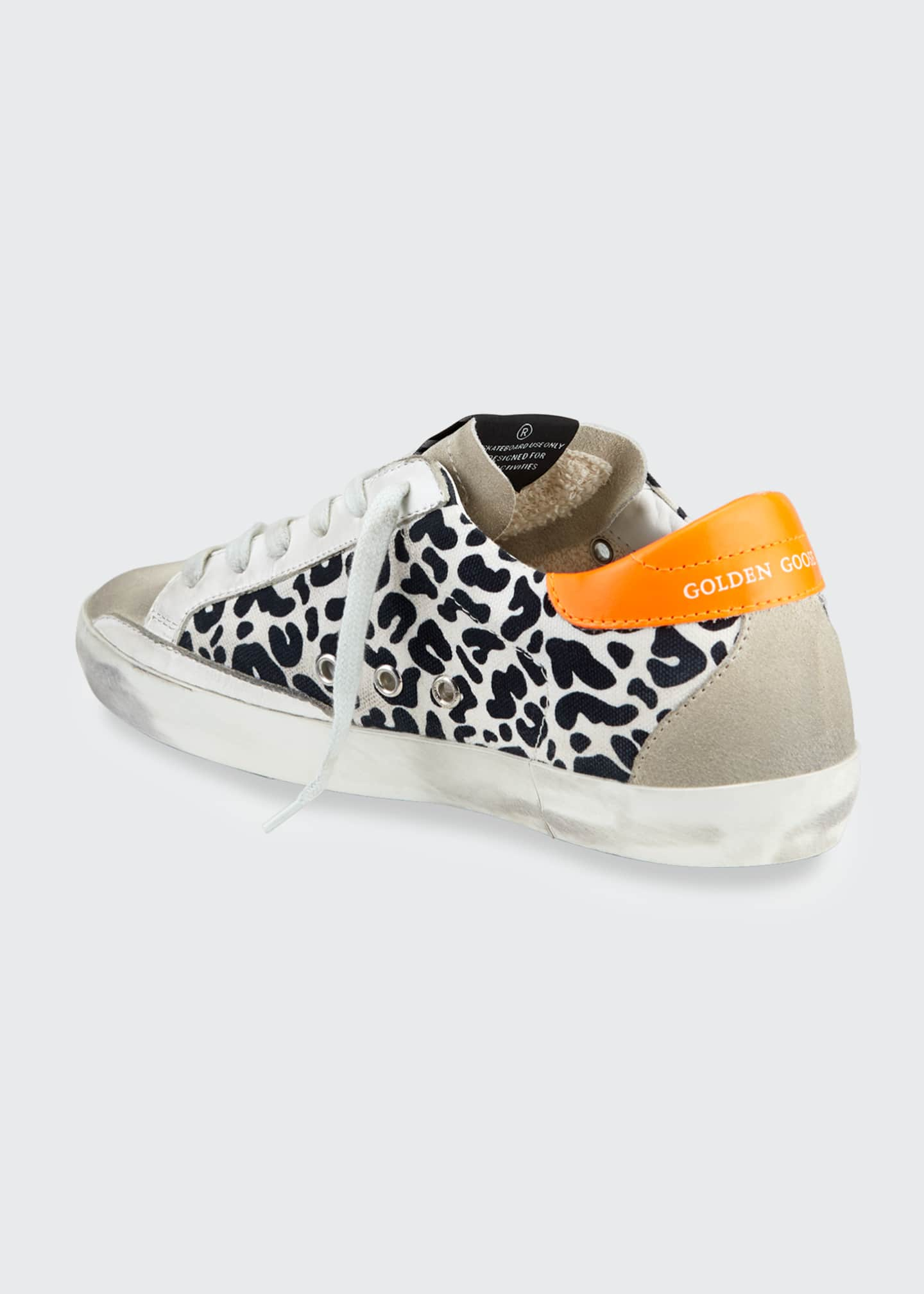 Image 3 of 4: Superstar Leopard-Print Bright Sneakers
