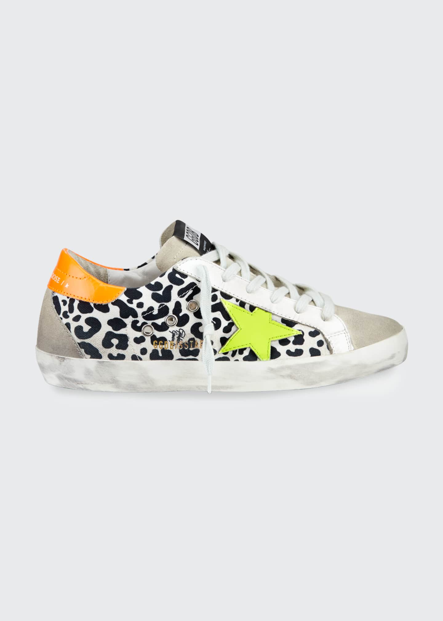 Image 1 of 4: Superstar Leopard-Print Bright Sneakers