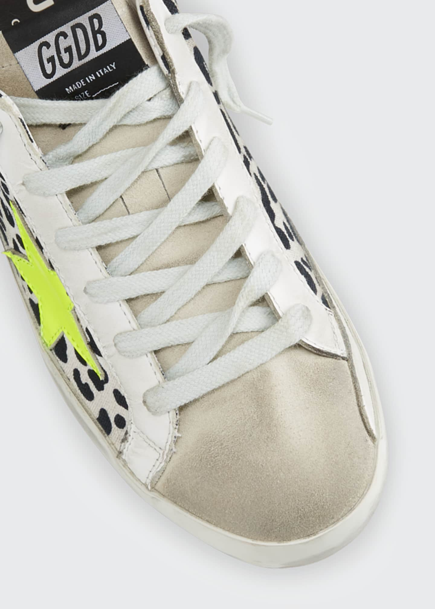 Image 4 of 4: Superstar Leopard-Print Bright Sneakers