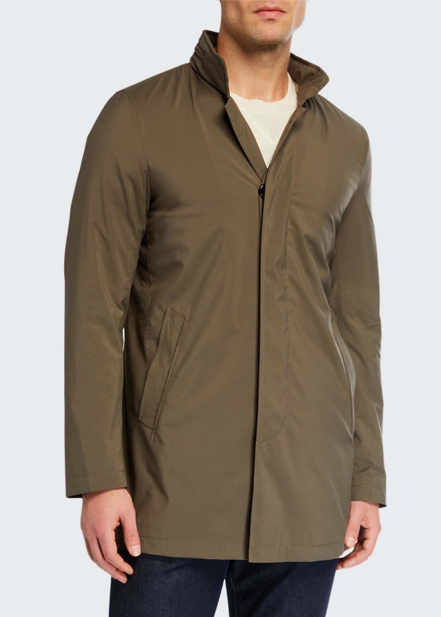 Image 2 of 3: Men's Technical Stretch Raincoat, Sage
