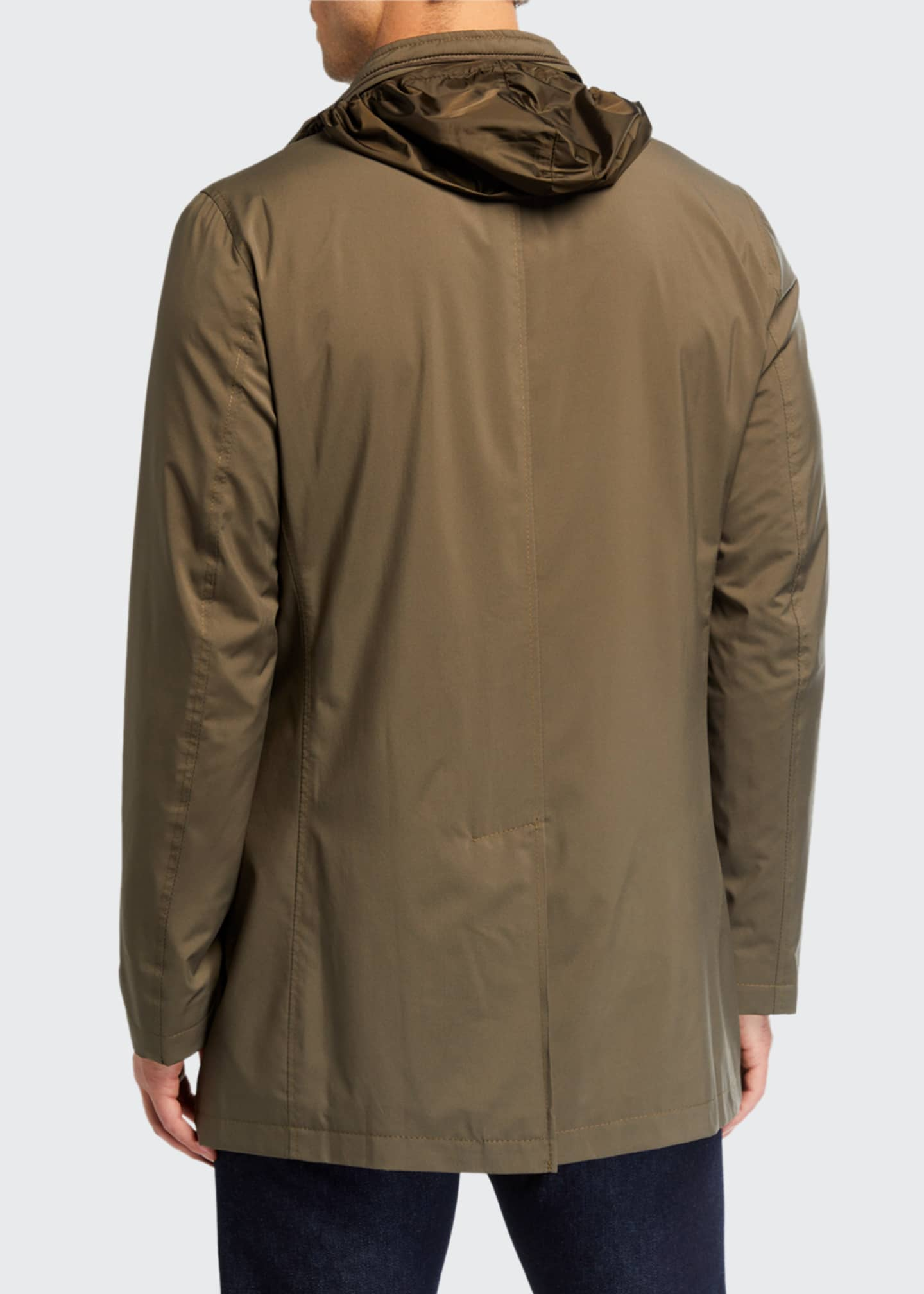 Image 3 of 3: Men's Technical Stretch Raincoat, Sage