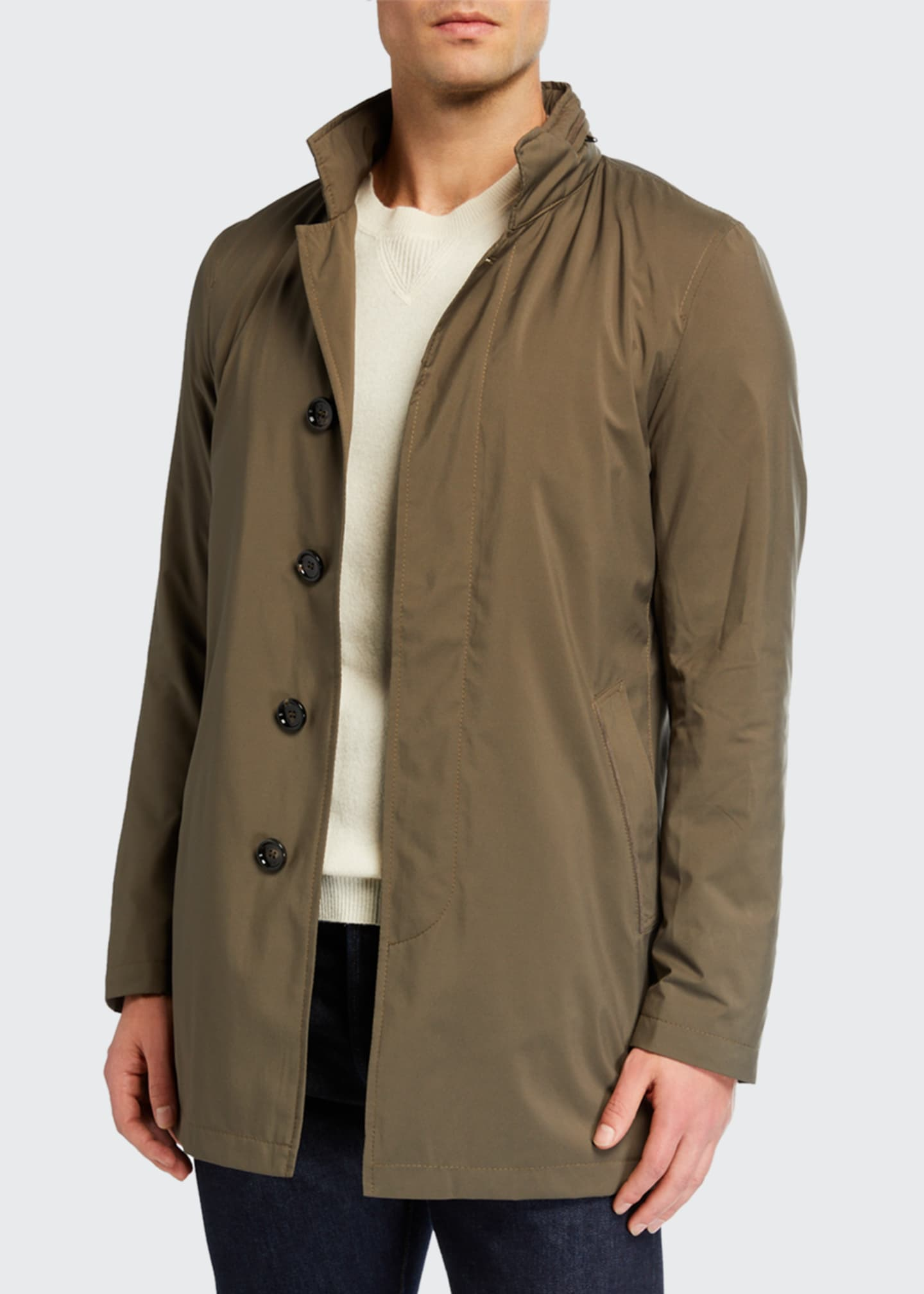 Men's Technical Stretch Raincoat, Sage