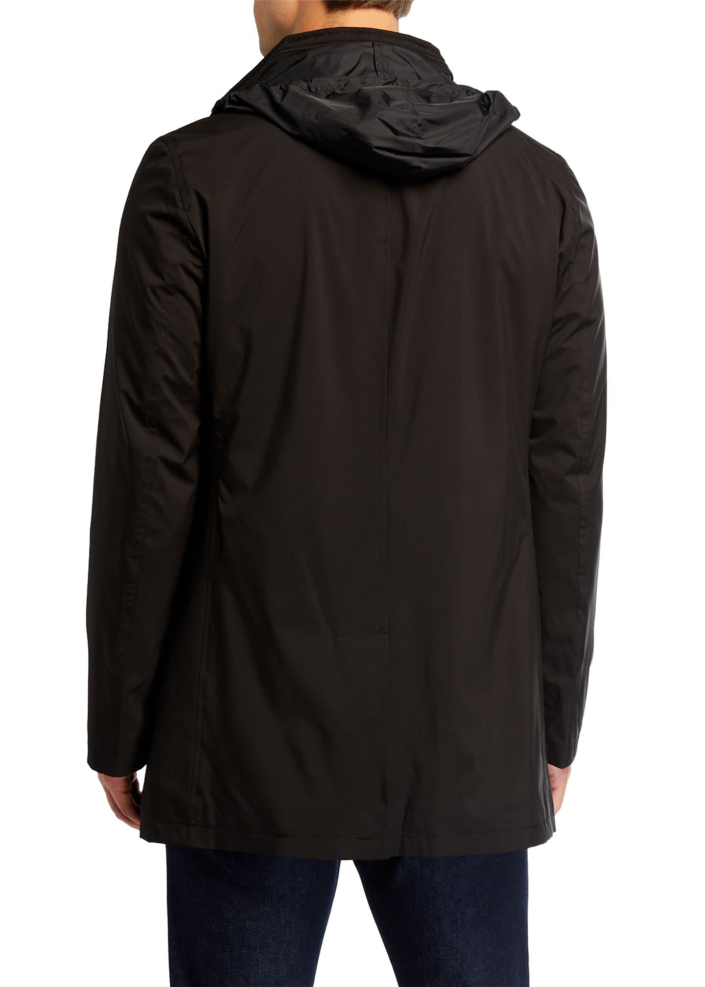 Image 3 of 3: Men's Technical Stretch Raincoat, Black