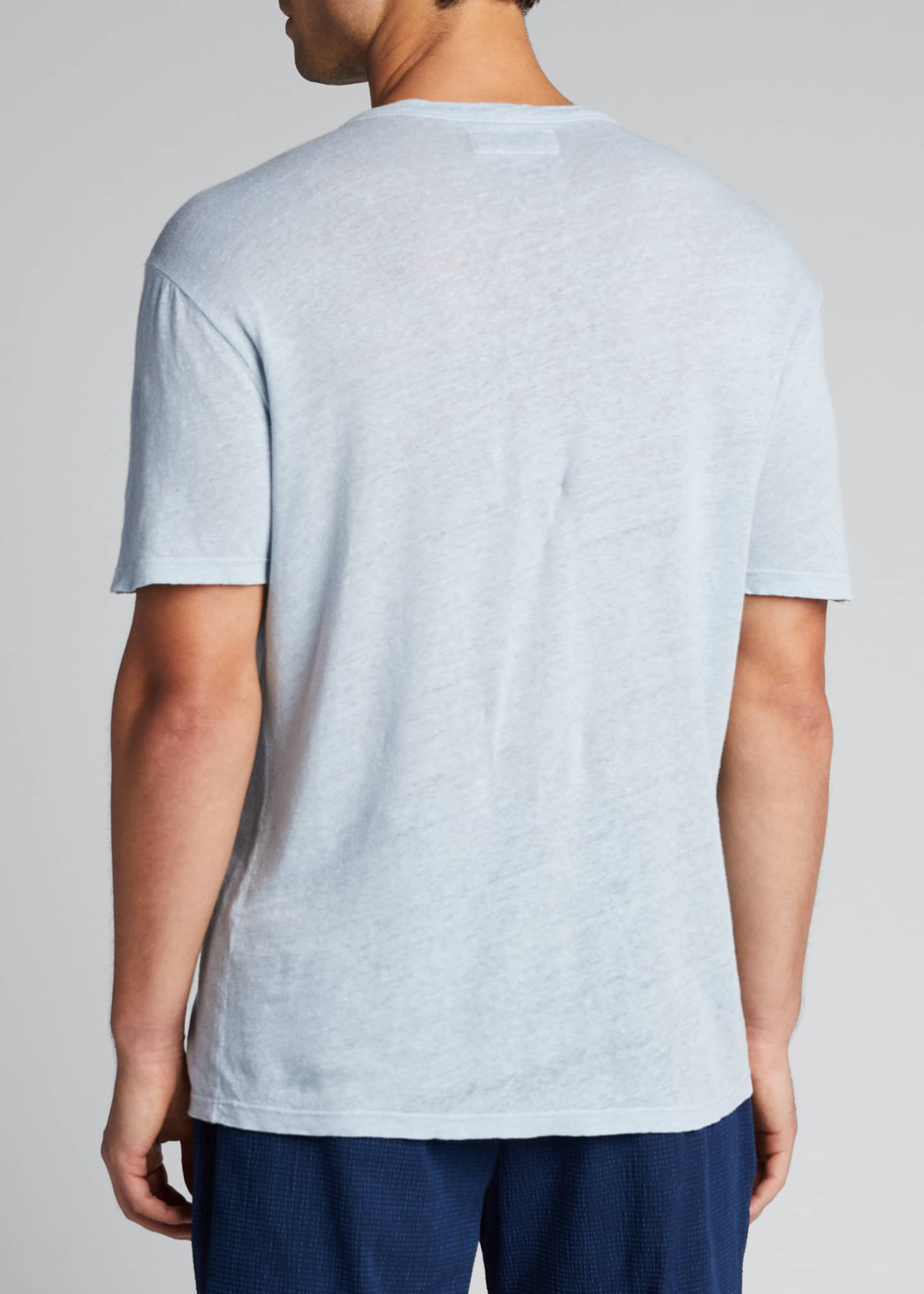 Image 2 of 5: Men's Garment-Dyed Linen Crewneck Tee