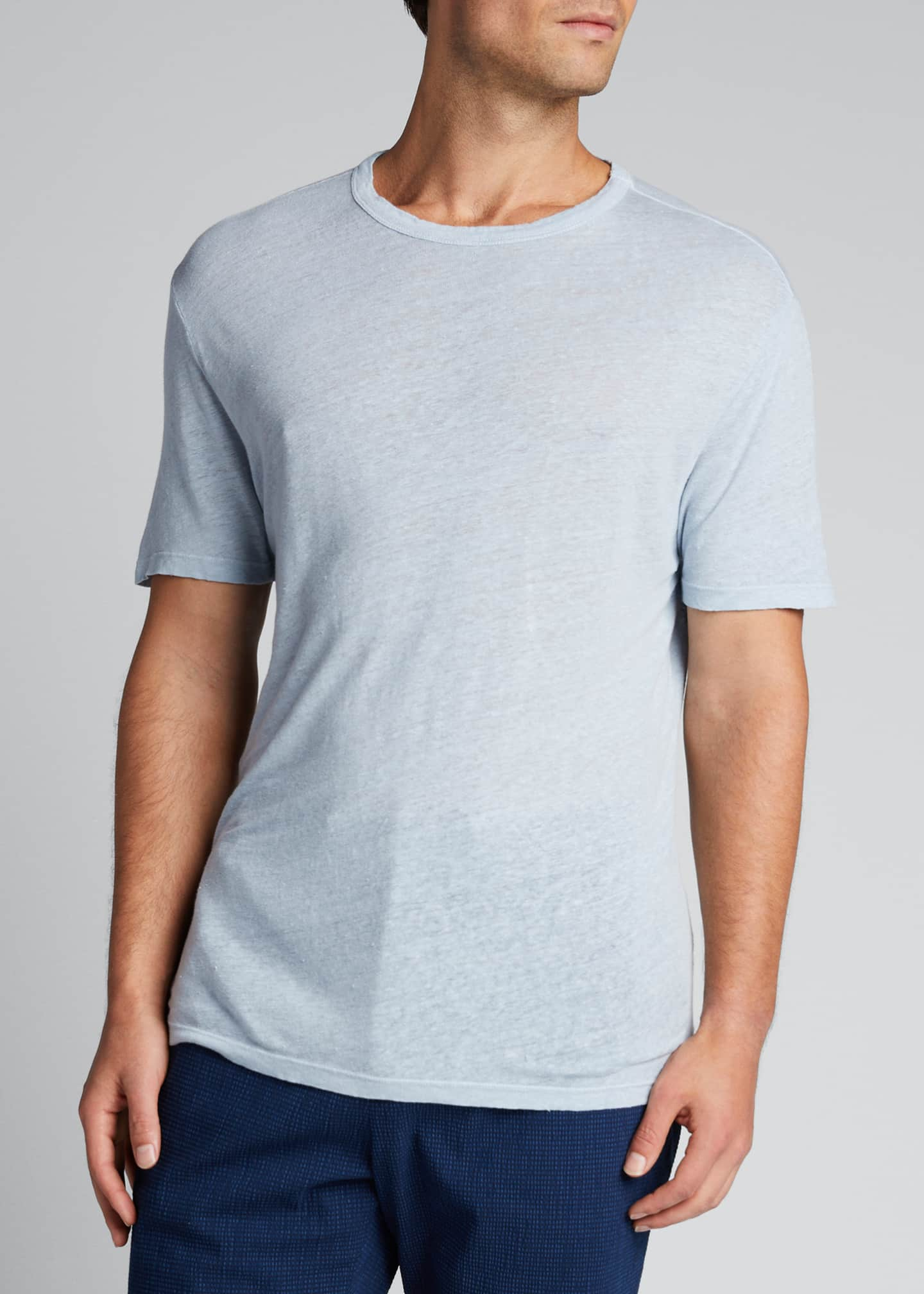 Image 3 of 5: Men's Garment-Dyed Linen Crewneck Tee
