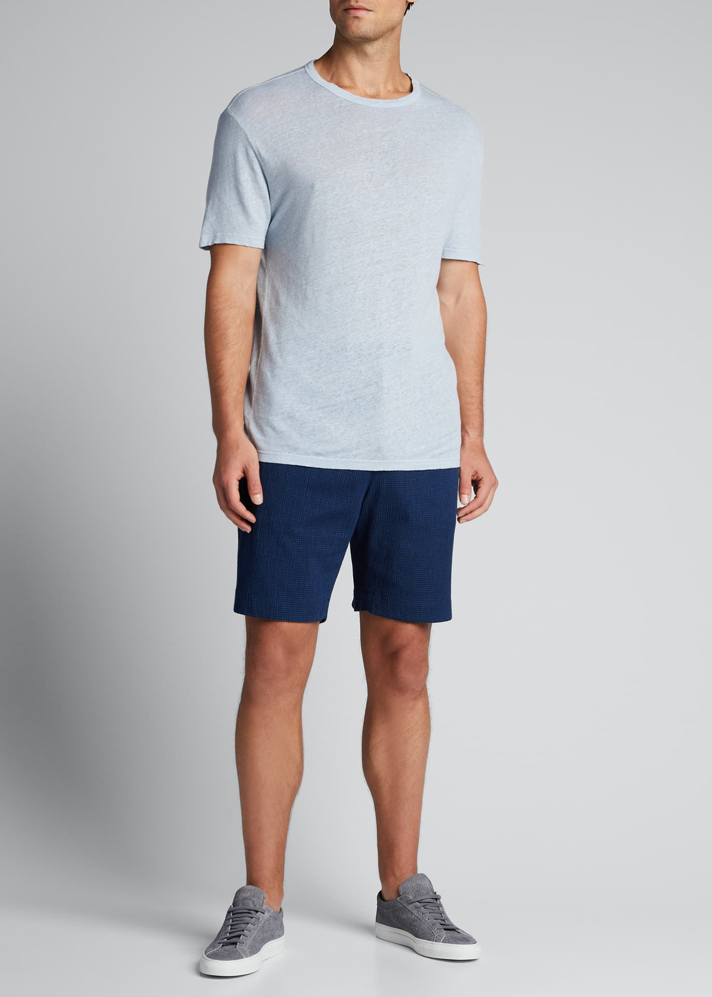 Men's Garment-Dyed Linen Crewneck Tee