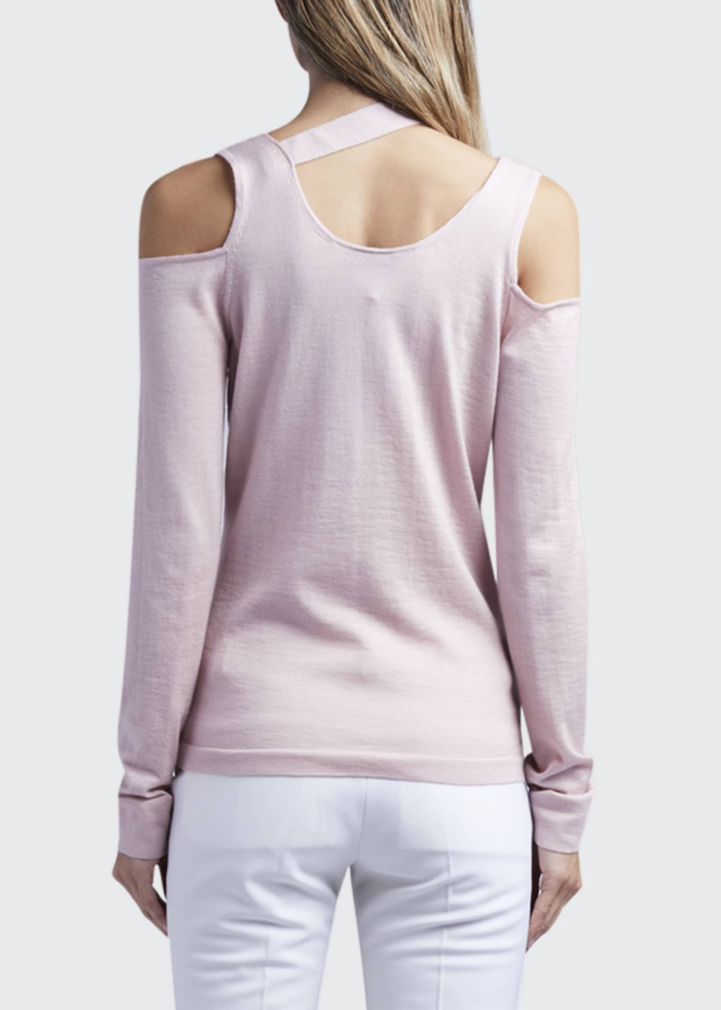 Image 2 of 4: Long-Sleeve Sweater With Cutouts And Hardware