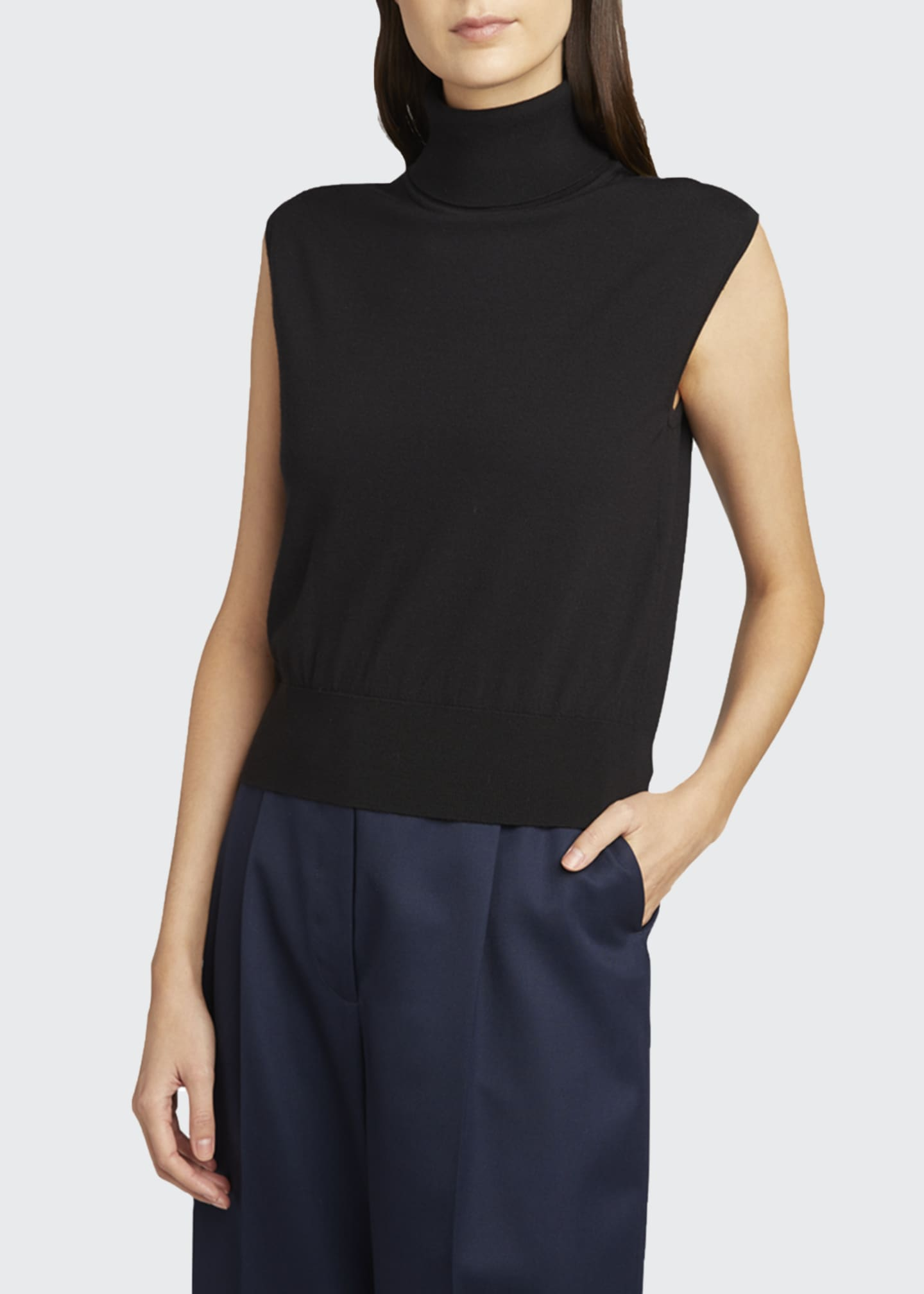 Image 3 of 3: Chano Cashmere Turtleneck Top