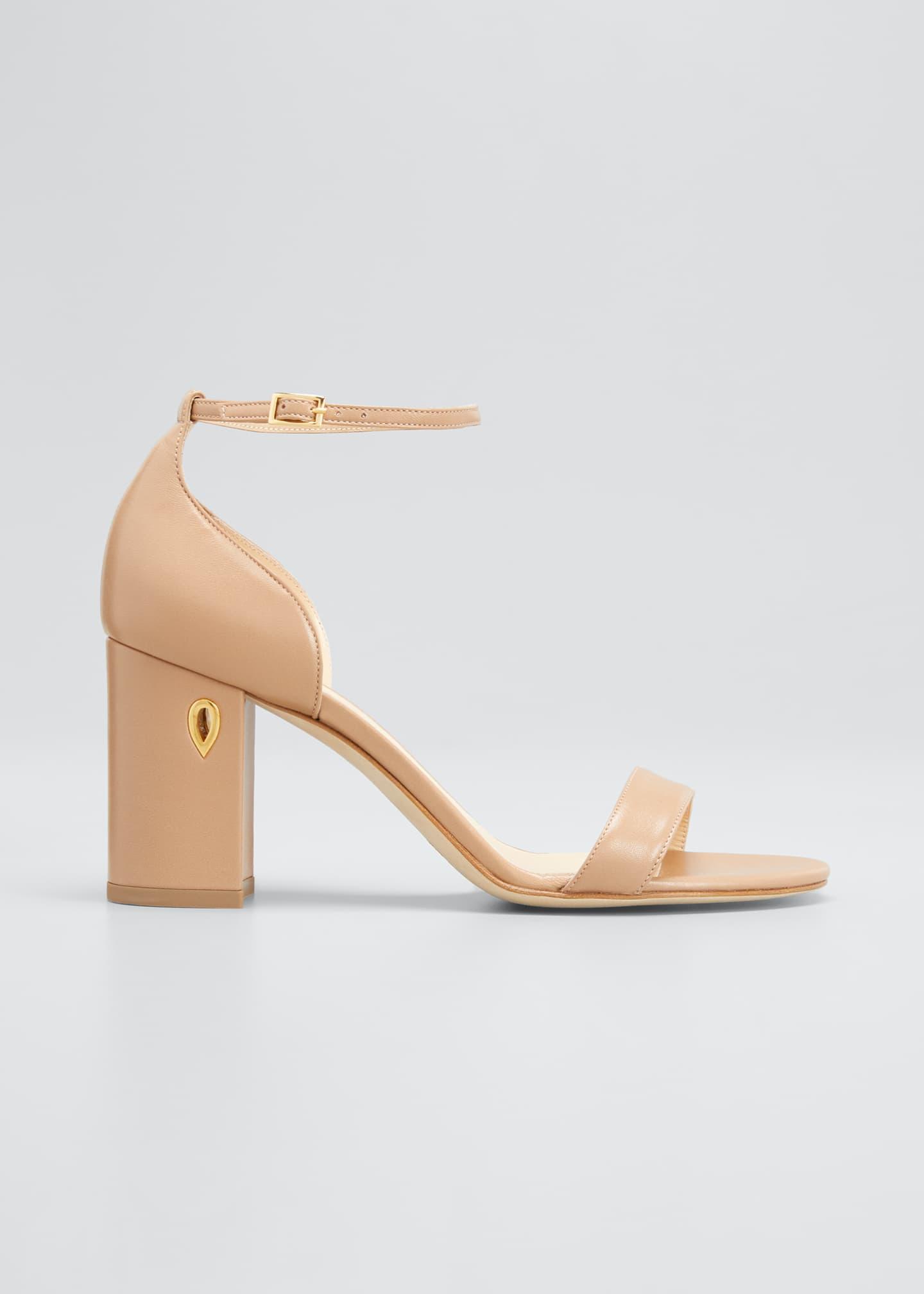 Jennifer Chamandi 85mm Napa Block-Heel Sandals