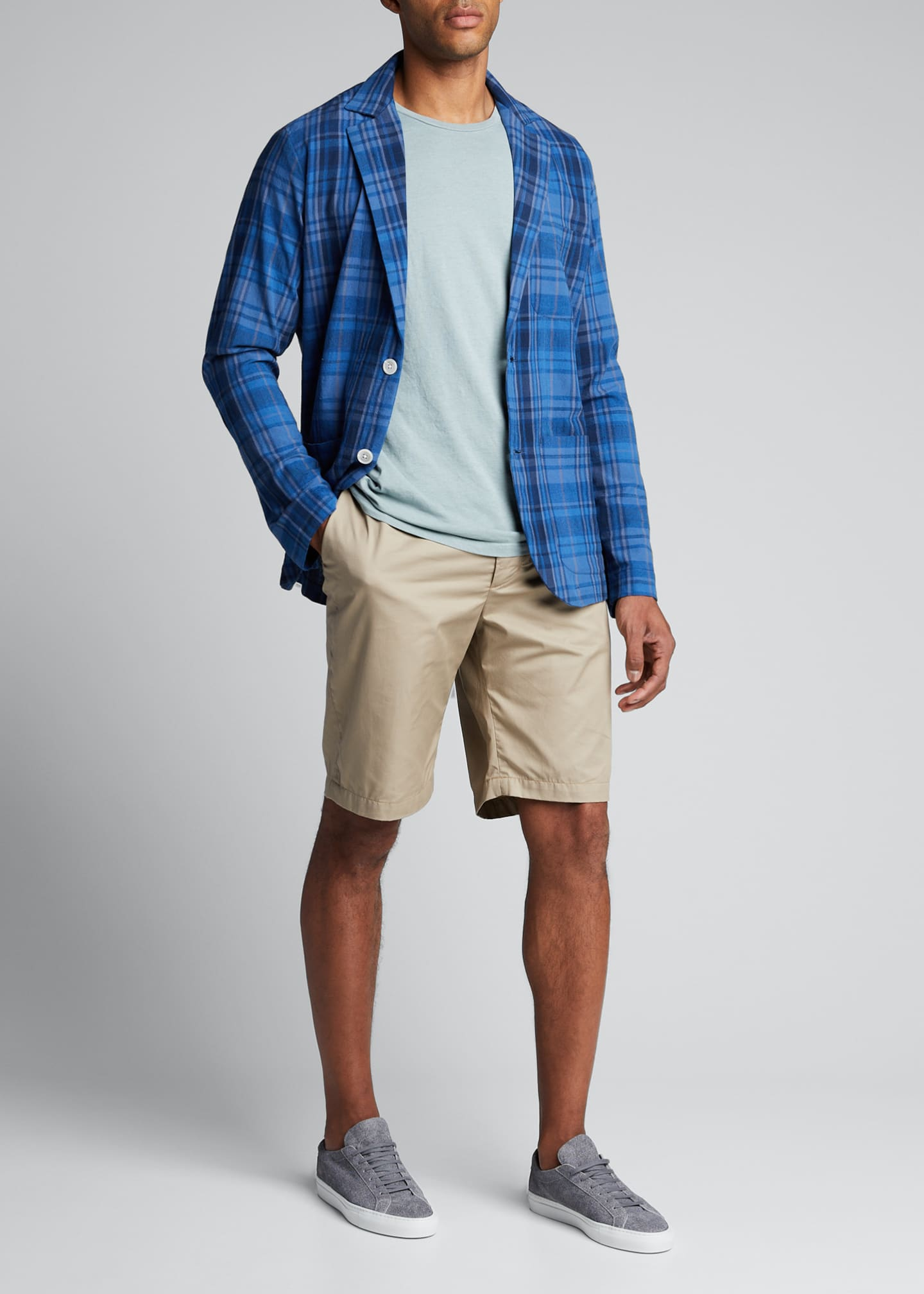 Image 1 of 5: Men's Unconstructed Plaid Two-Button Sport Jacket