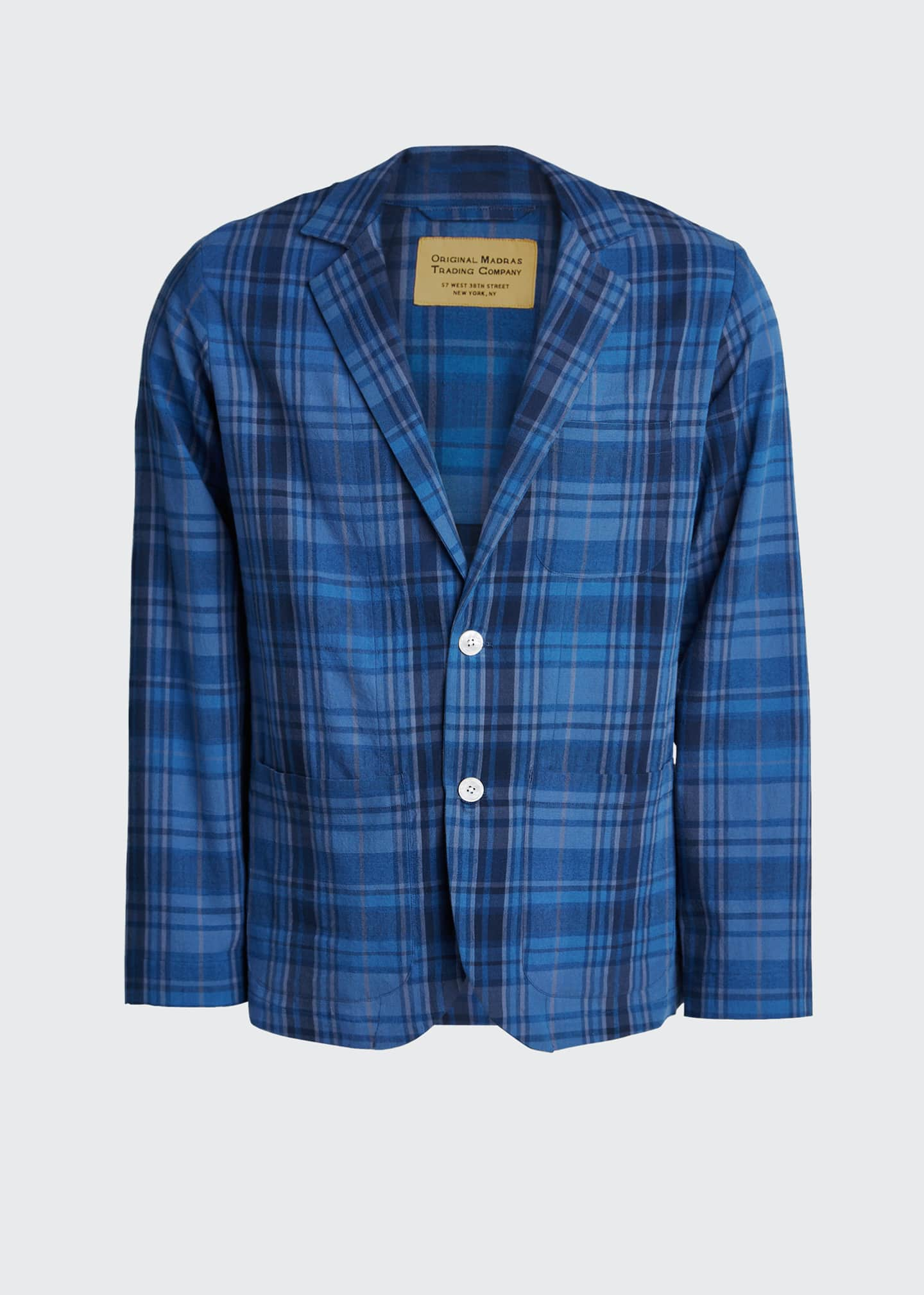Image 5 of 5: Men's Unconstructed Plaid Two-Button Sport Jacket
