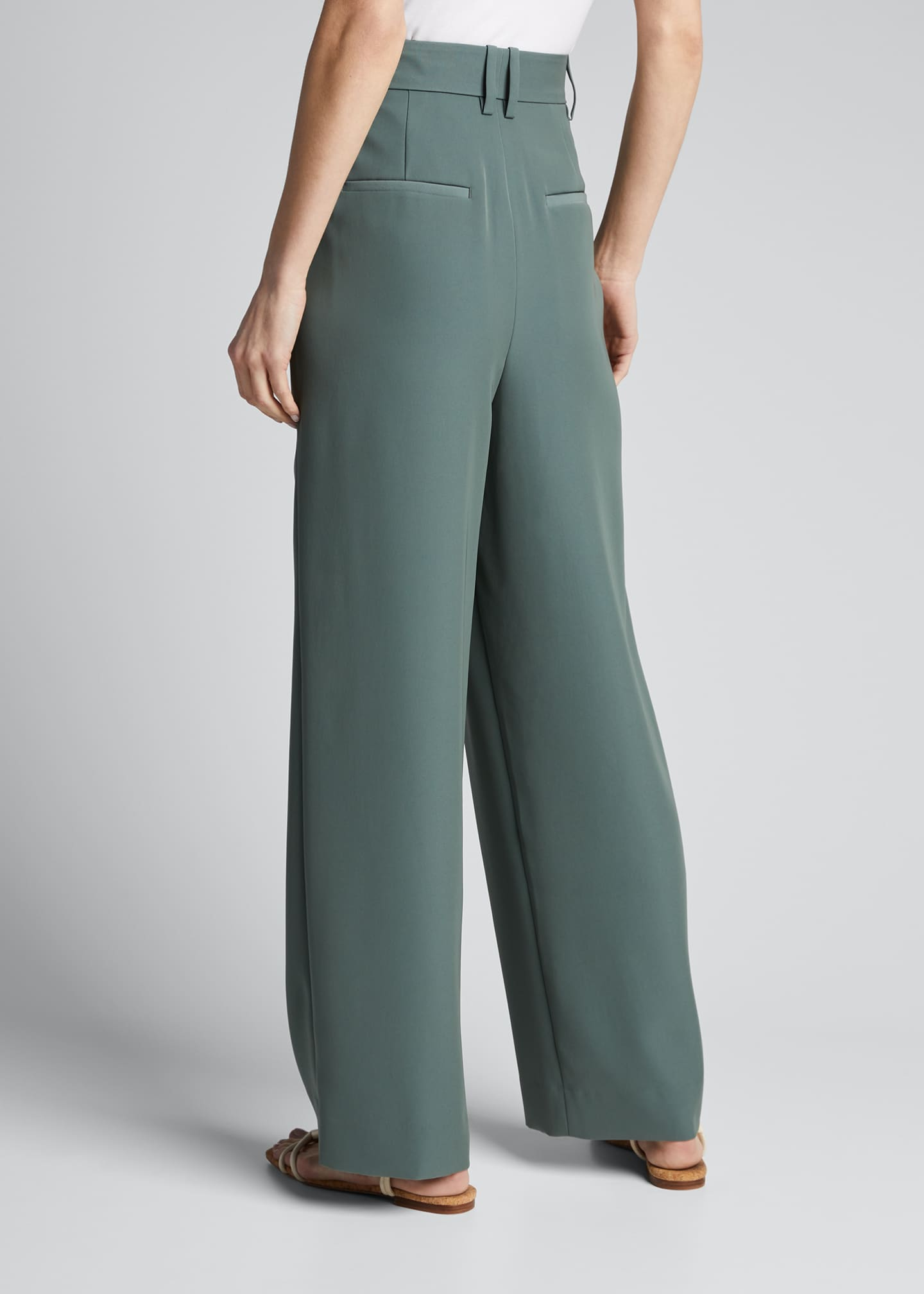 Image 2 of 5: Wide-Leg Pleated Trousers