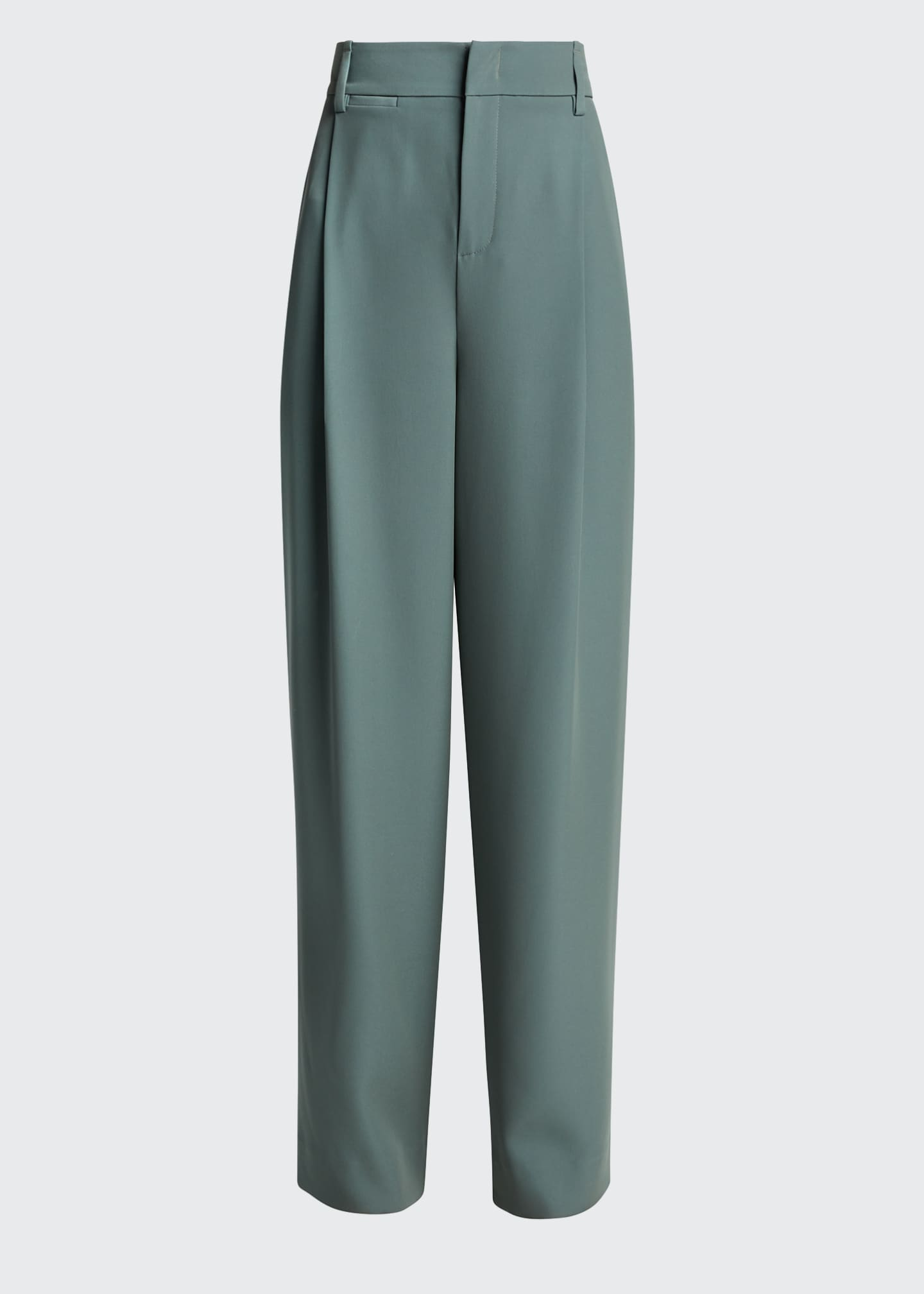 Image 5 of 5: Wide-Leg Pleated Trousers
