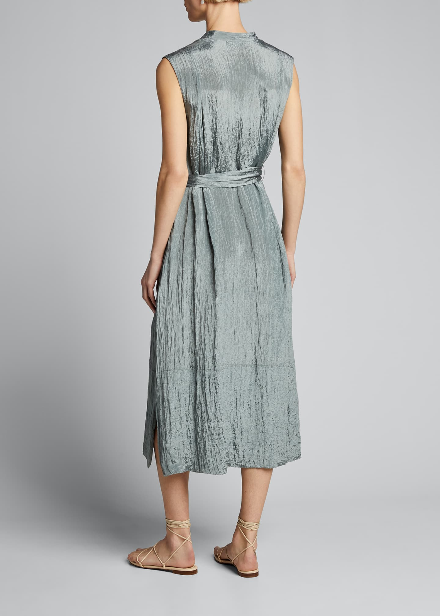 Image 2 of 4: Sleeveless Textured Popover Dress