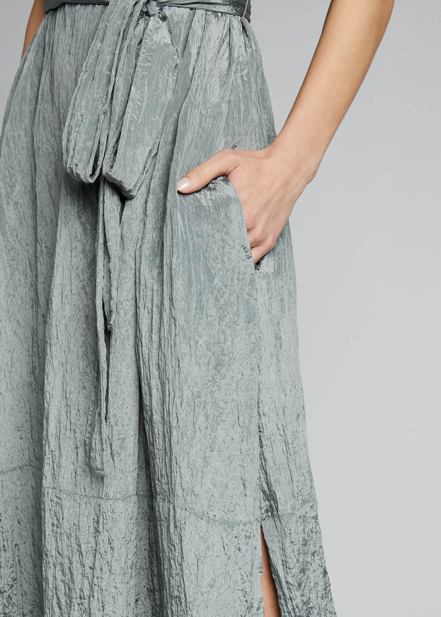 Image 4 of 4: Sleeveless Textured Popover Dress